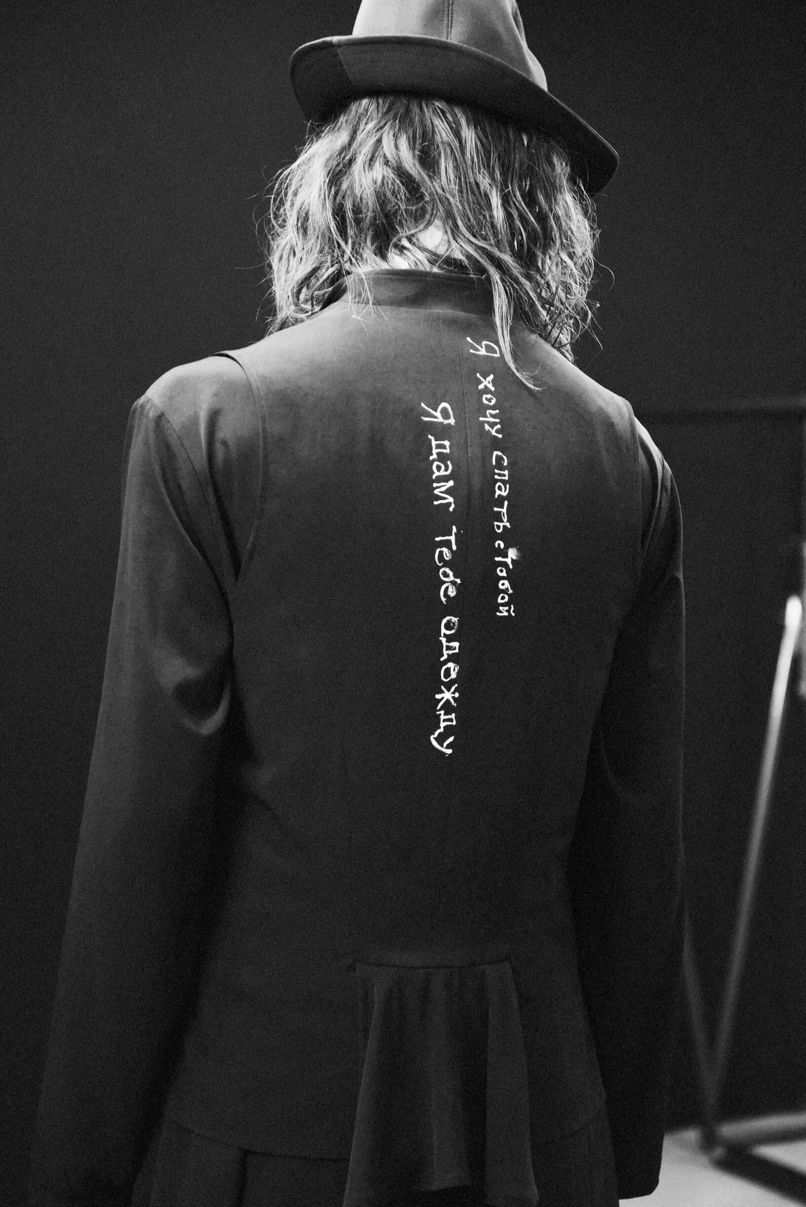 Model Detail SS 2020 Backstage Yohji Yamamoto