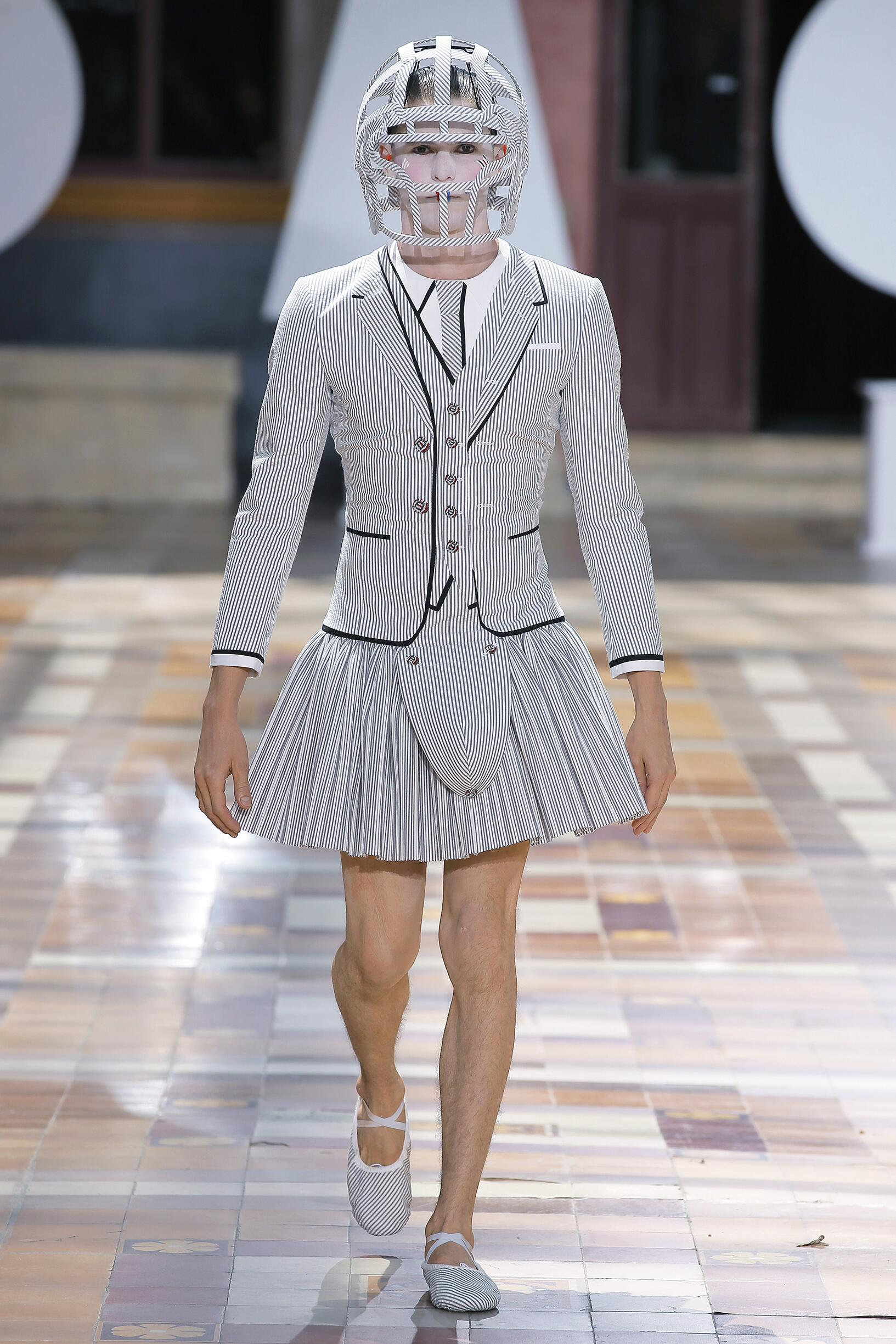 Model Fashion Show Thom Browne
