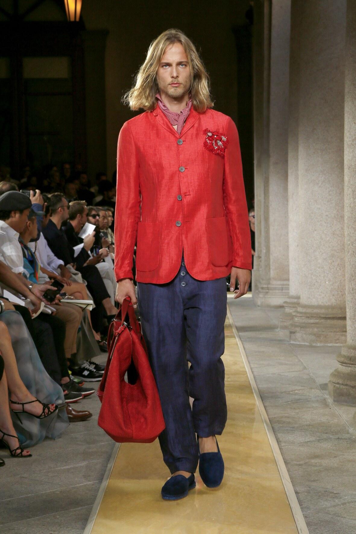 Model Fashion Week 2020 Catwalk Giorgio Armani