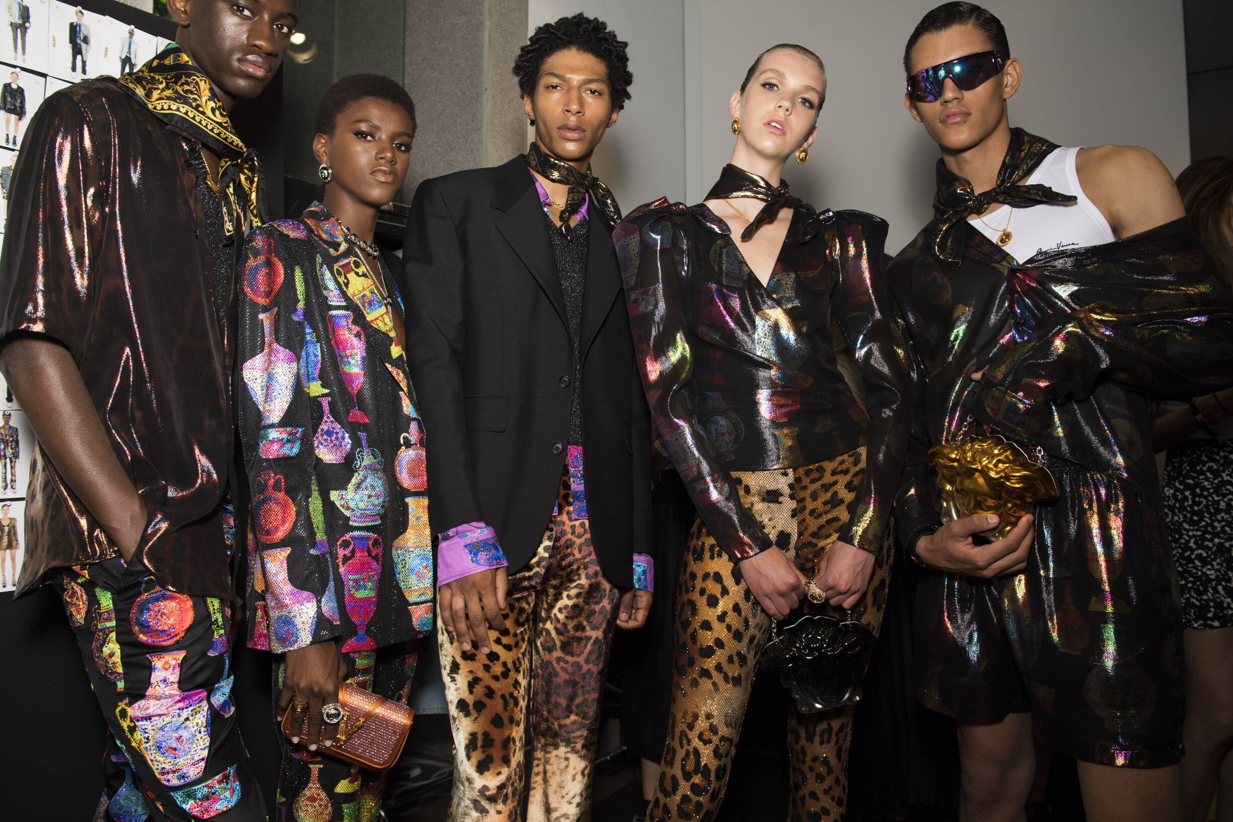Models 2020 Backstage Versace