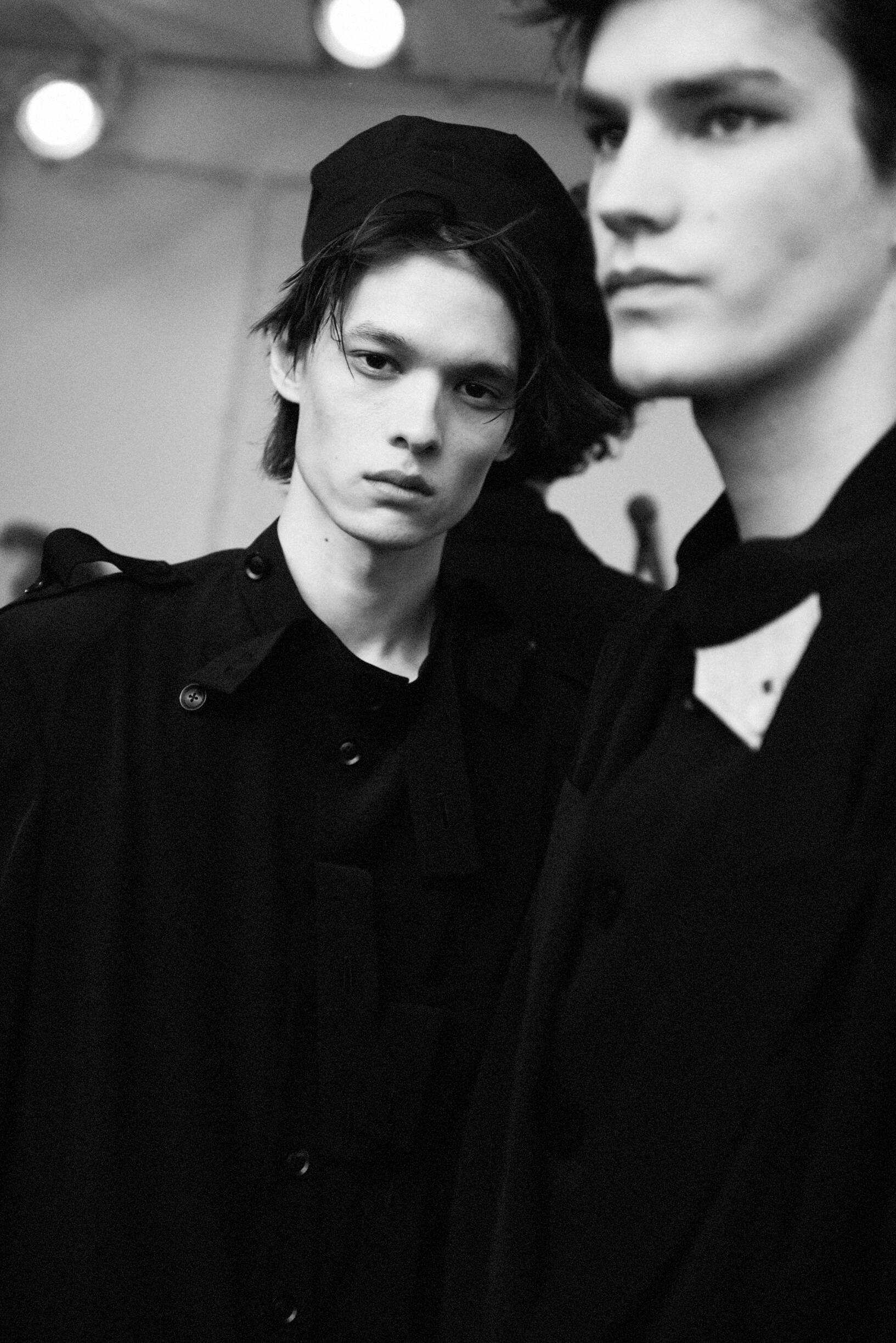 Models Backstage Yohji Yamamoto Spring Summer 2020 Collection
