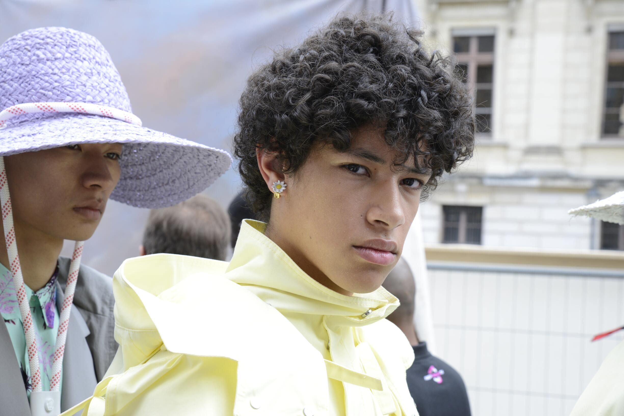 Models Menswear SS 2020 Backstage Louis Vuitton