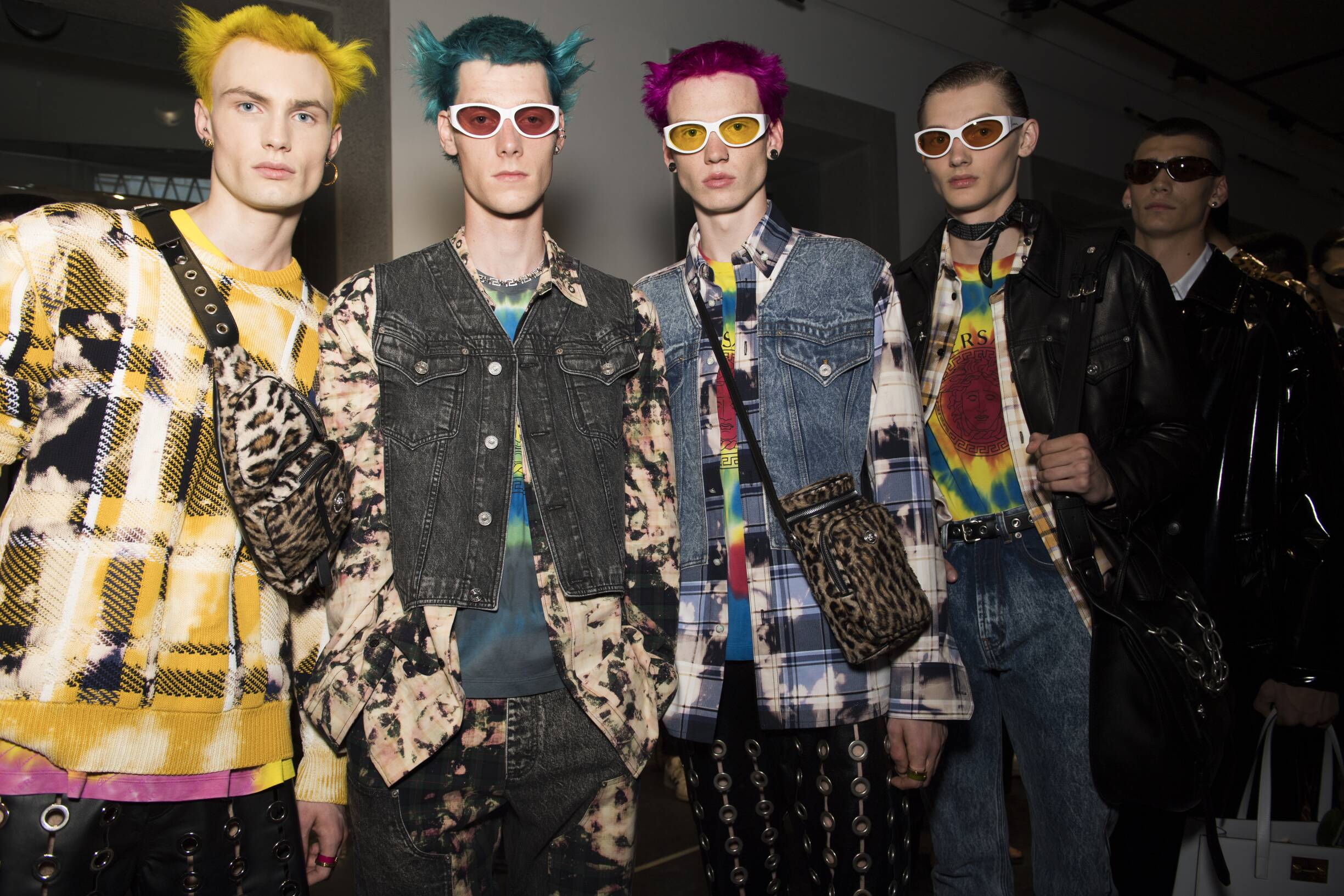 Models Menswear SS 2020 Backstage Versace