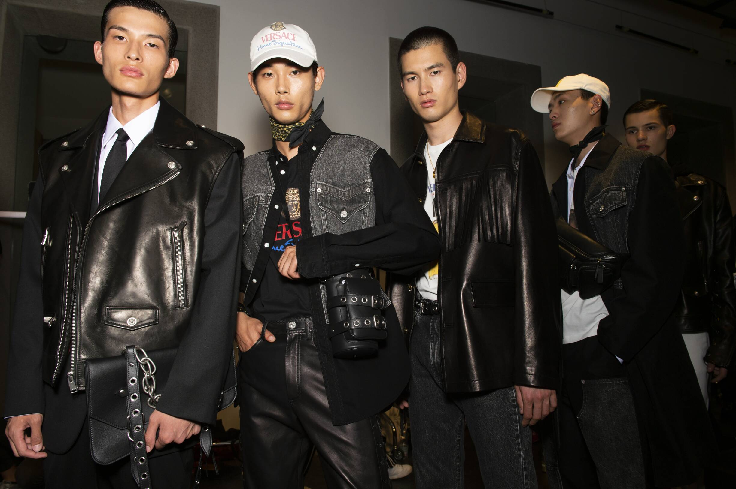 Models Style Backstage Versace