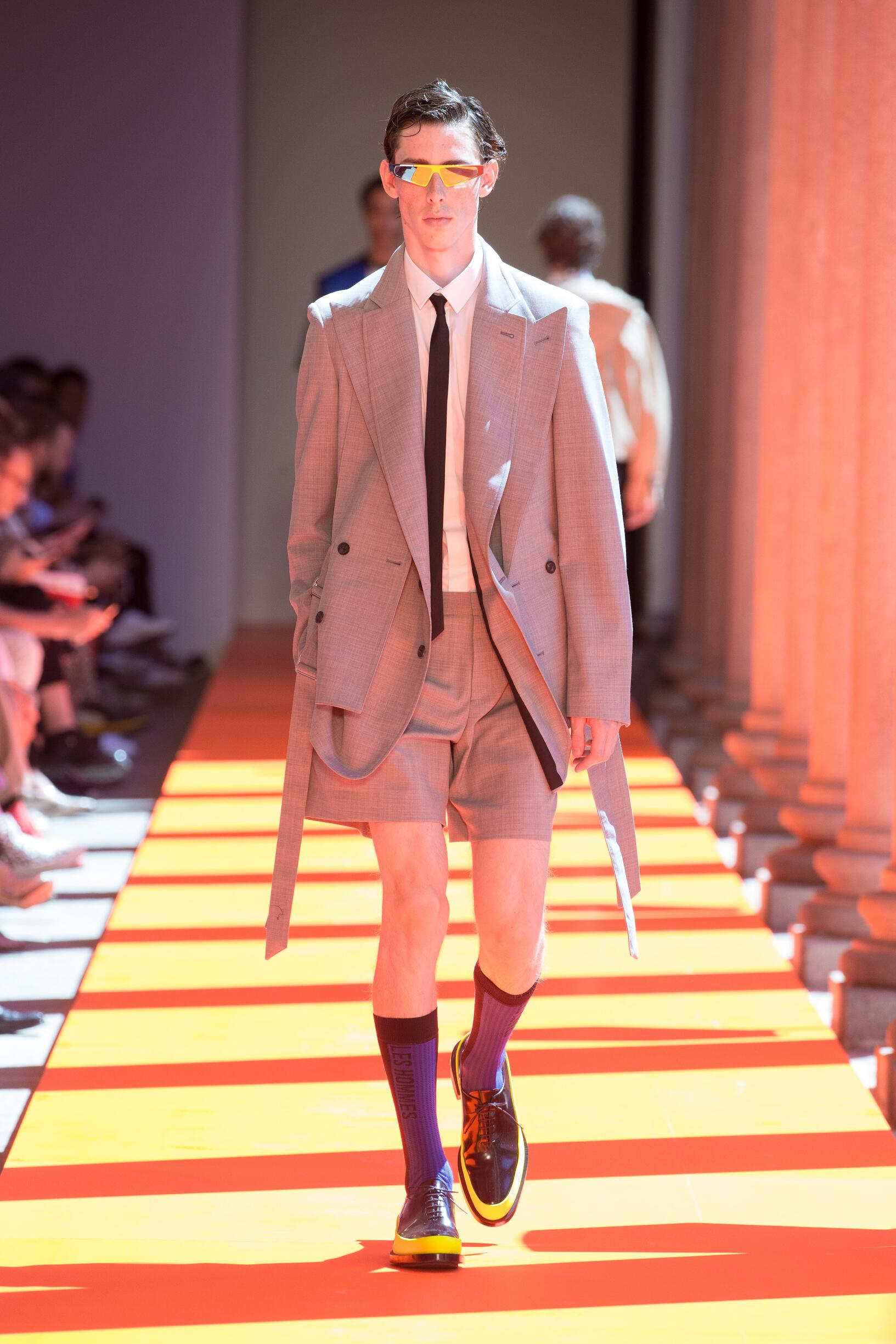 Runway Les Hommes Spring Summer 2020 Men's Collection Milan Fashion Week