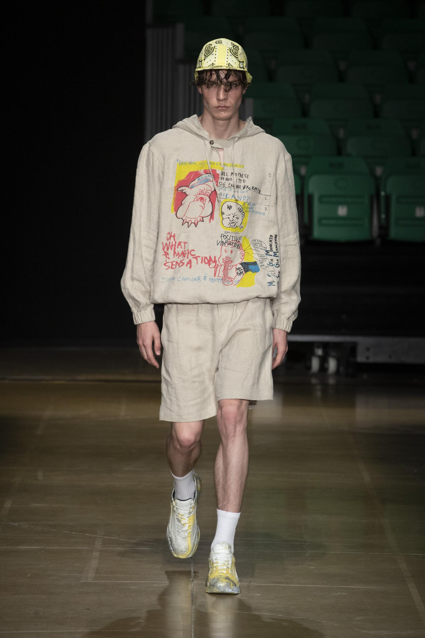 Runway MSGM Spring Summer 2020 Men's Collection Pitti Immagine
