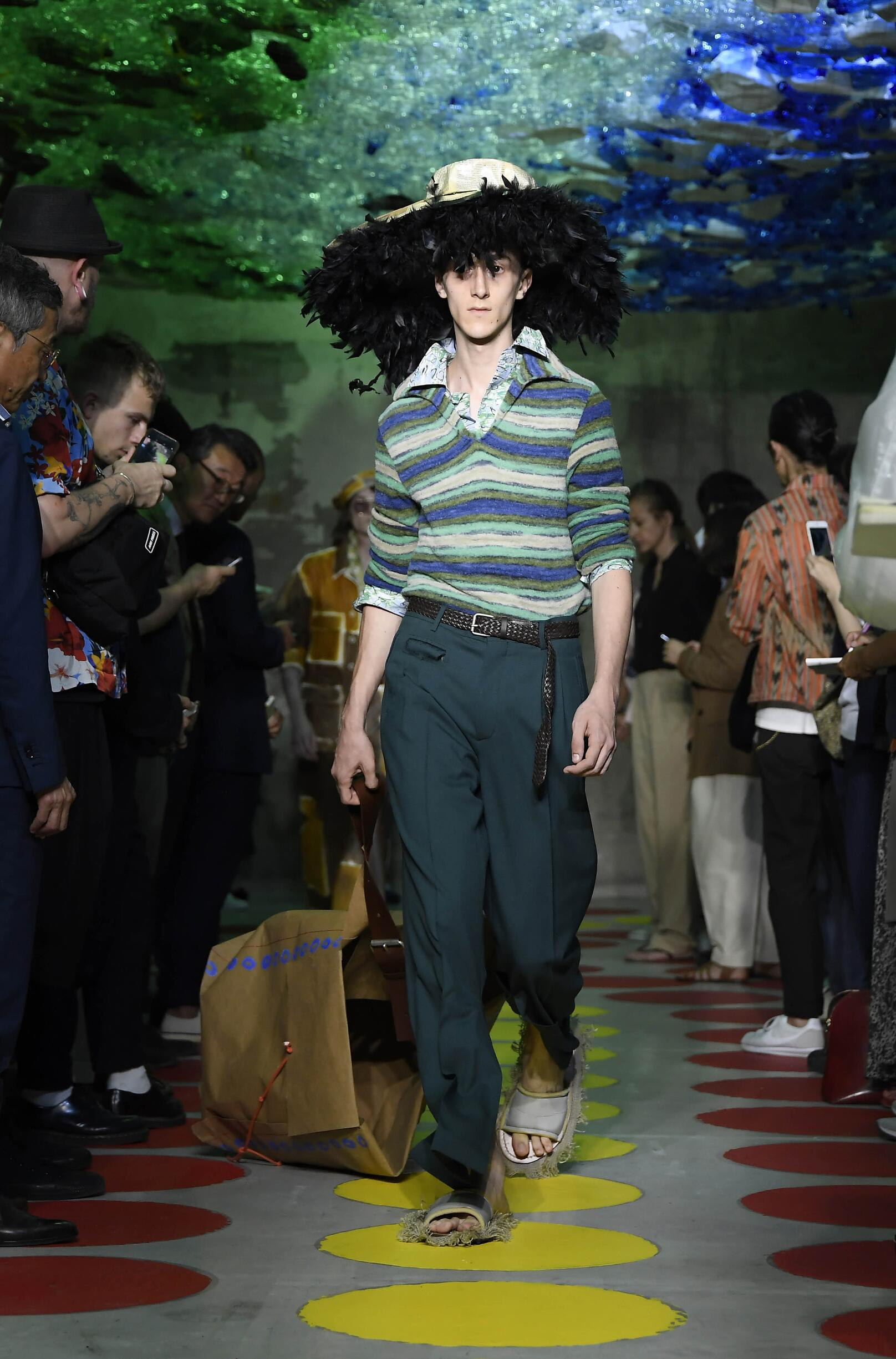 Runway Marni Spring Summer 2020 Men's Collection Milan Fashion Week