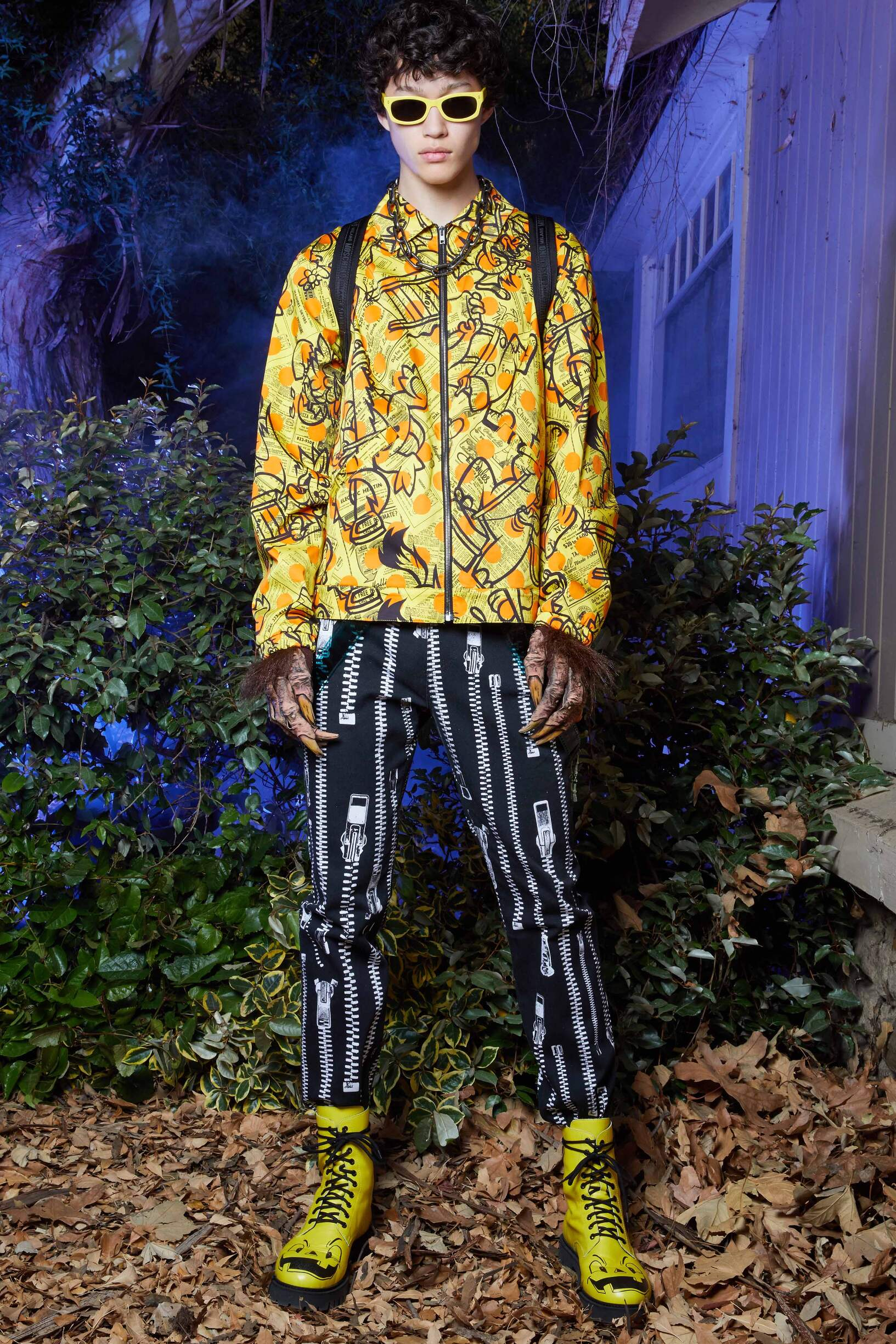 Runway Moschino Spring Summer 2020 Men's Collection Los Angeles Fashion Show