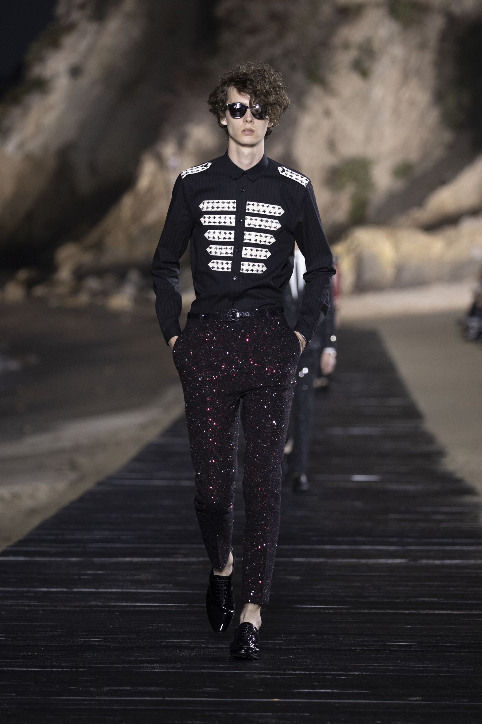 Runway Saint Laurent Spring Summer 2020 Men's Collection Malibu Fashion Show