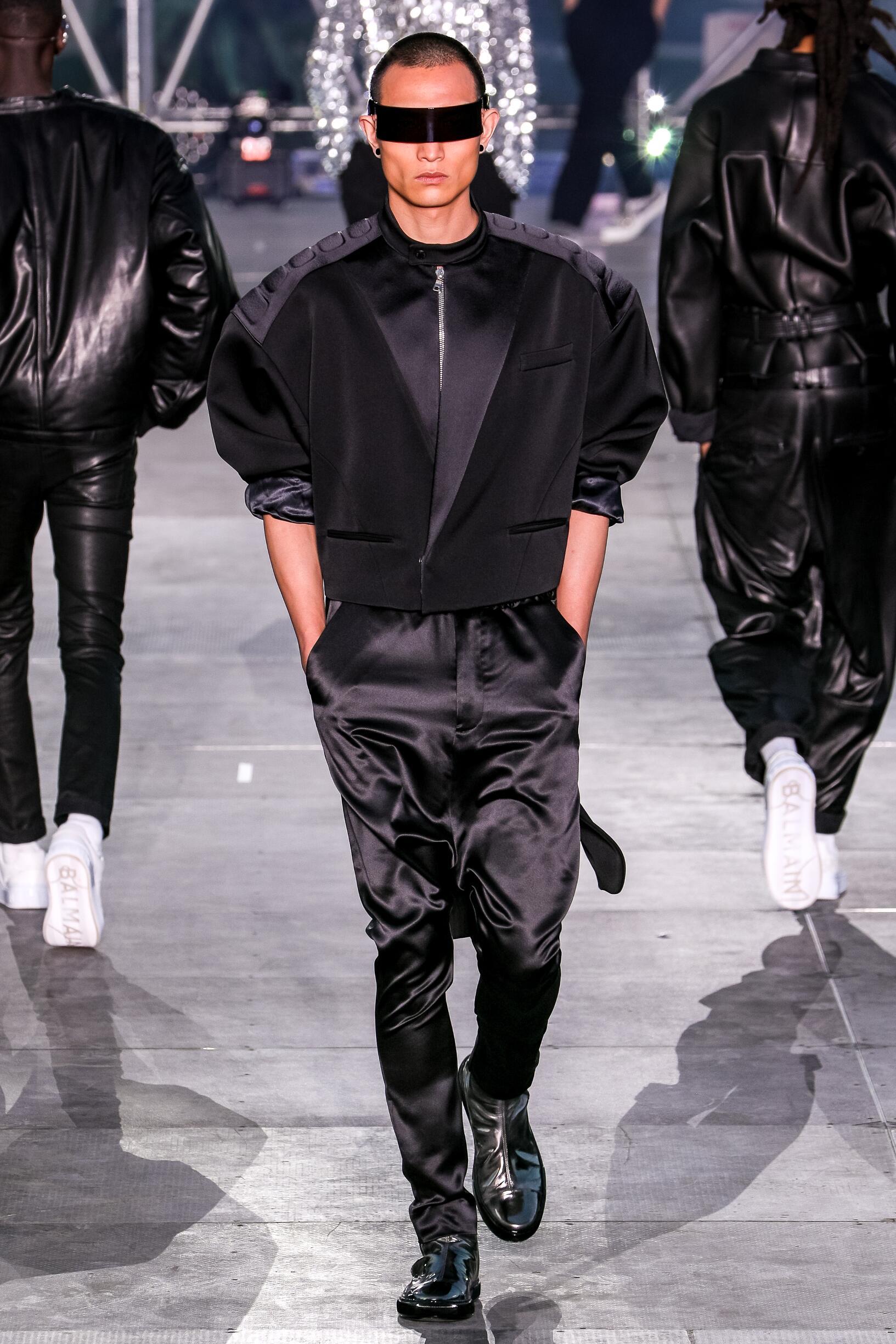 SS 2020 Balmain Show Paris Fashion Week Menswear