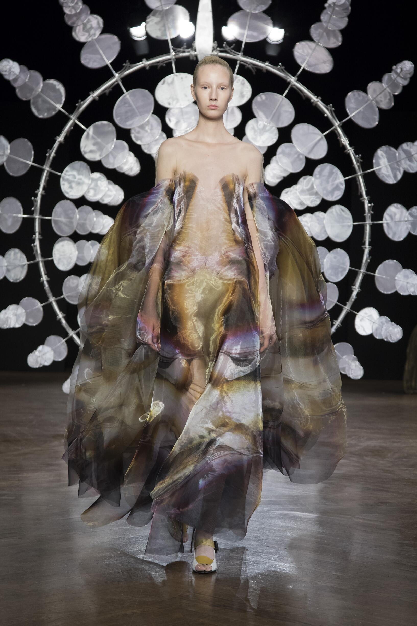 Fashion Model Iris van Herpen Haute Couture Catwalk