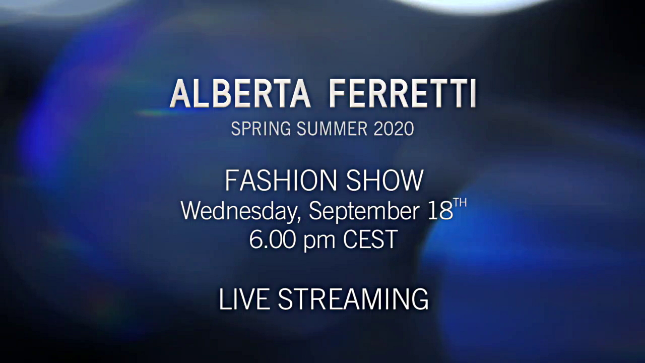 Alberta Ferretti Spring Summer 2020 Fashion Show Live Streaming Milan