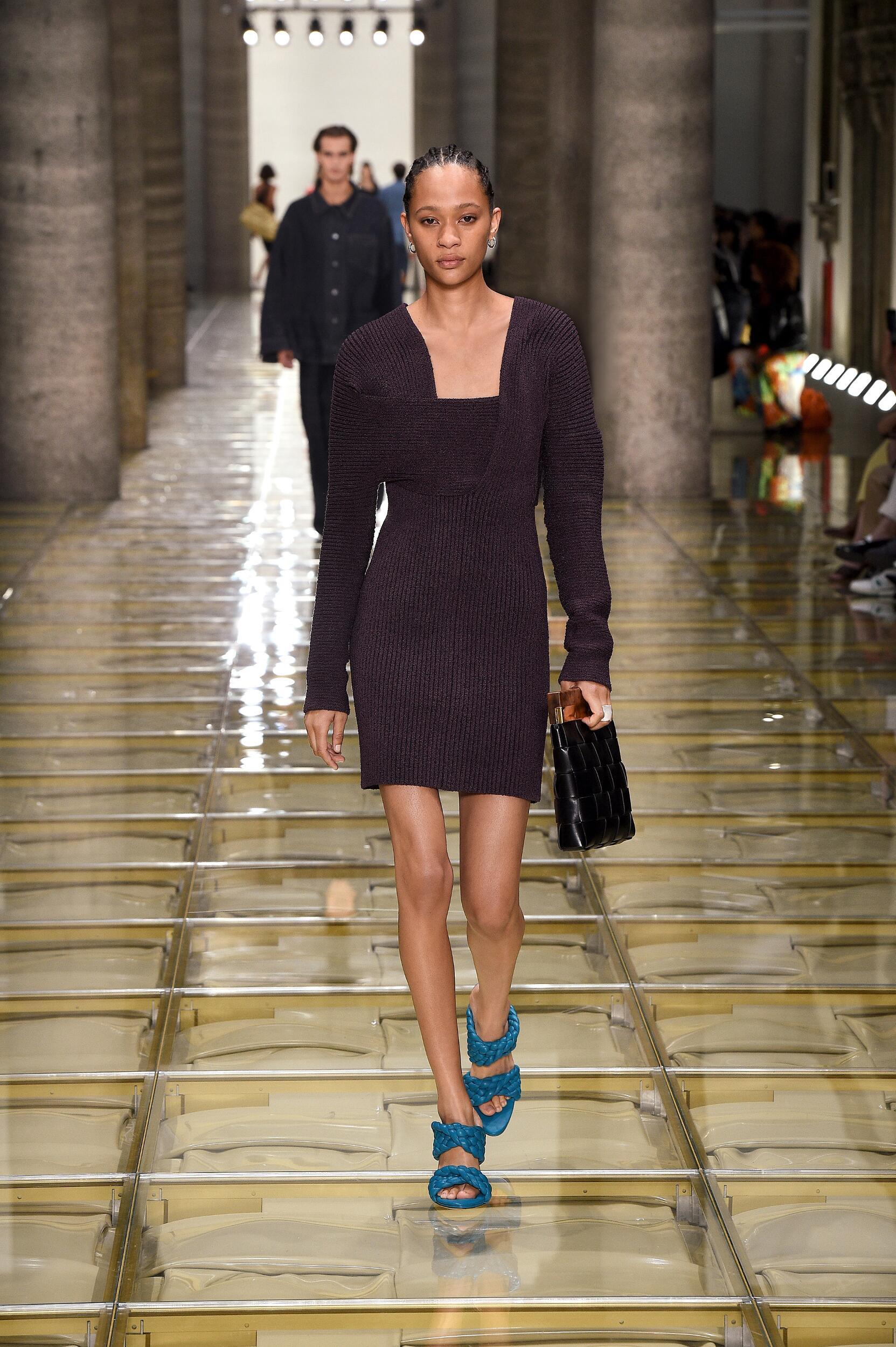 Fashion Model Bottega Veneta Catwalk