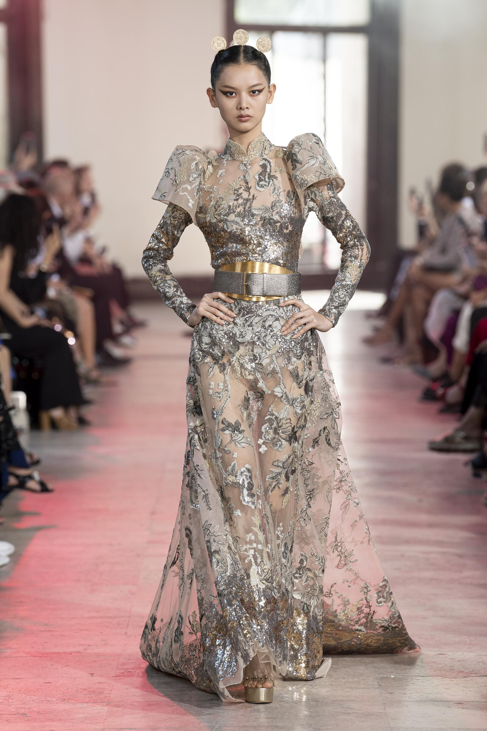 Fashion Model Elie Saab Haute Couture Catwalk