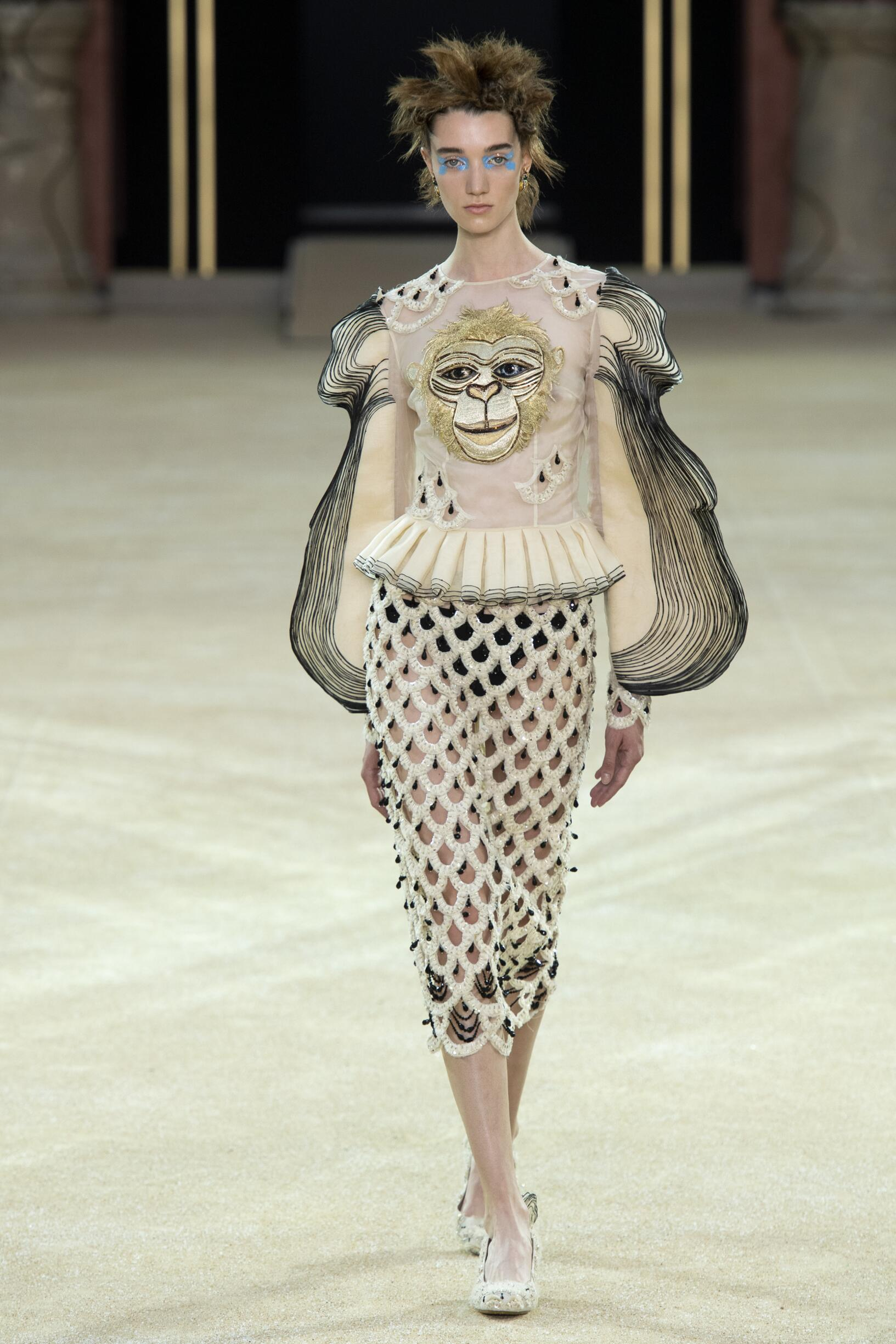 Fashion Model Guo Pei Haute Couture Catwalk