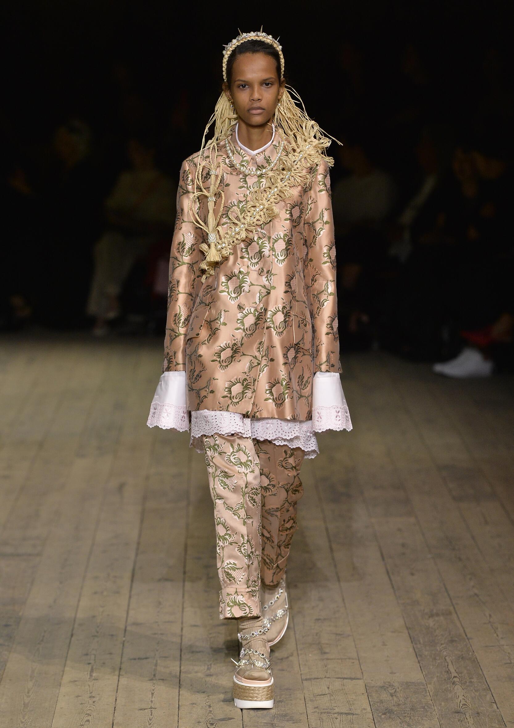 Fashion Model Simone Rocha Catwalk