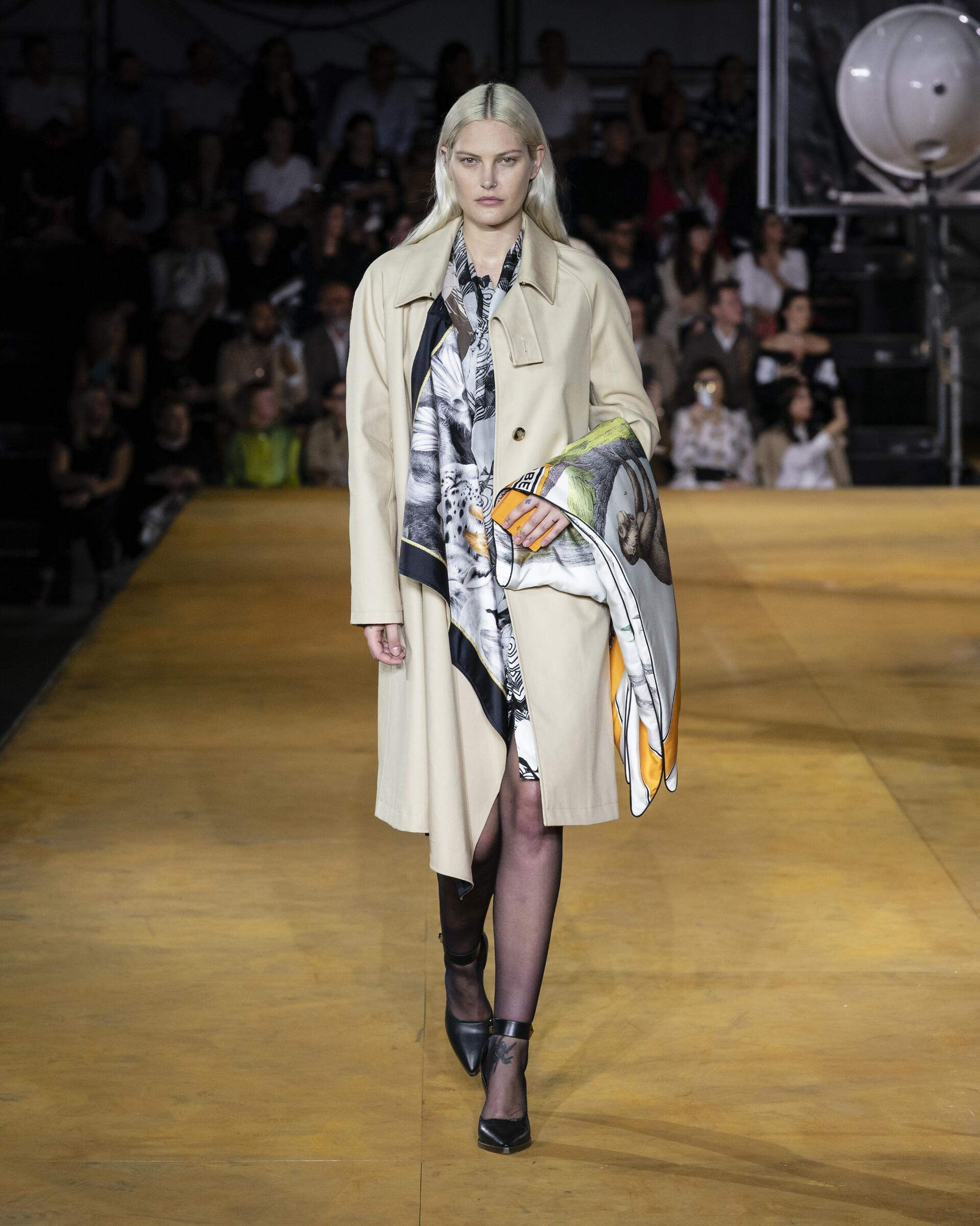 Fashion Model Woman Burberry Catwalk