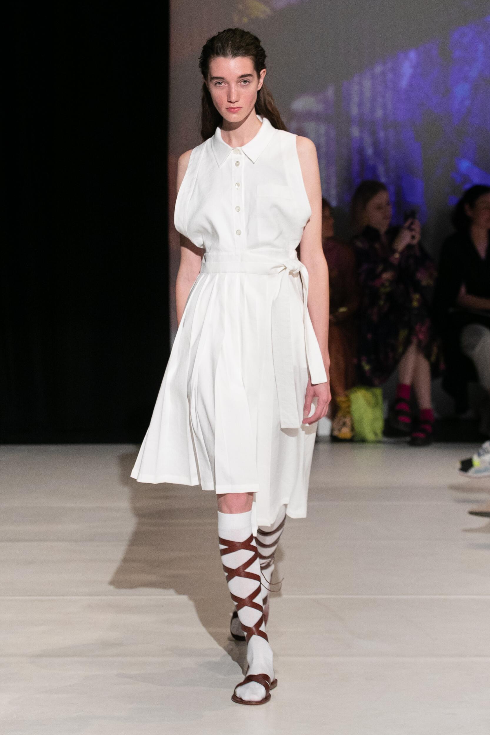 Fashion Model Woman Chalayan Catwalk