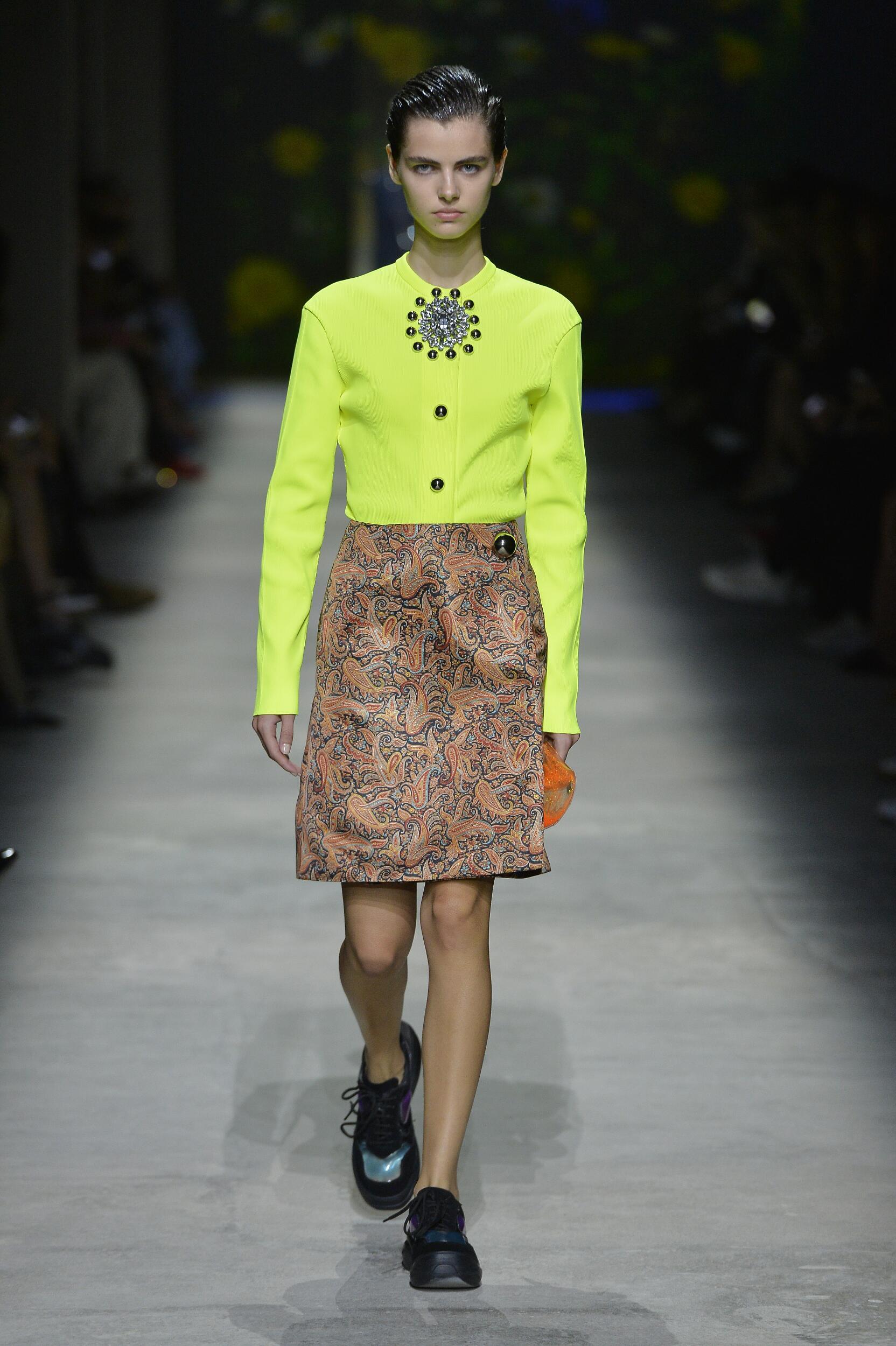 Fashion Model Woman Christopher Kane Catwalk