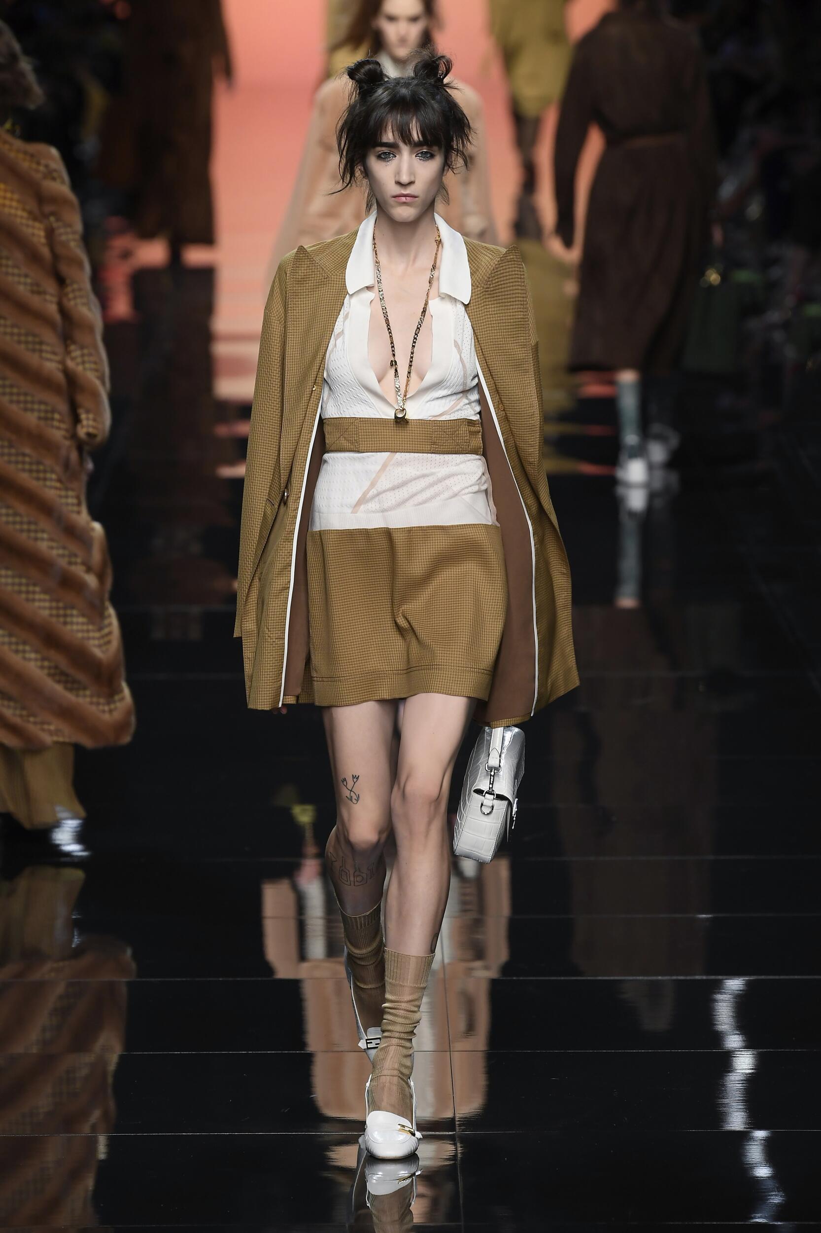 Fashion Model Woman Fendi Catwalk