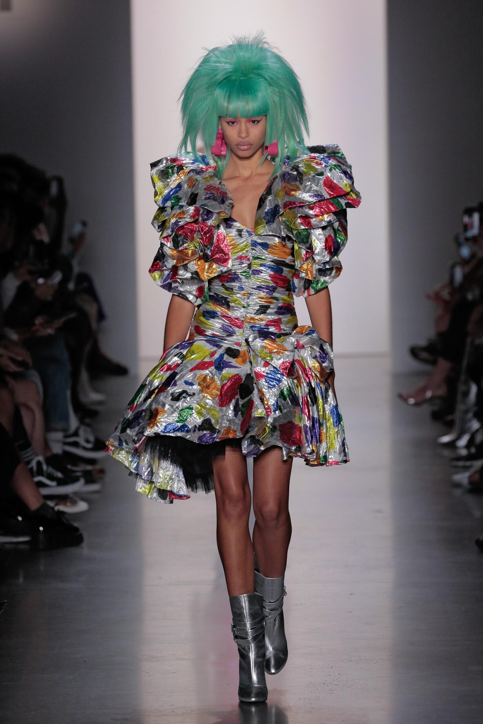 Fashion Model Woman Jeremy Scott Catwalk