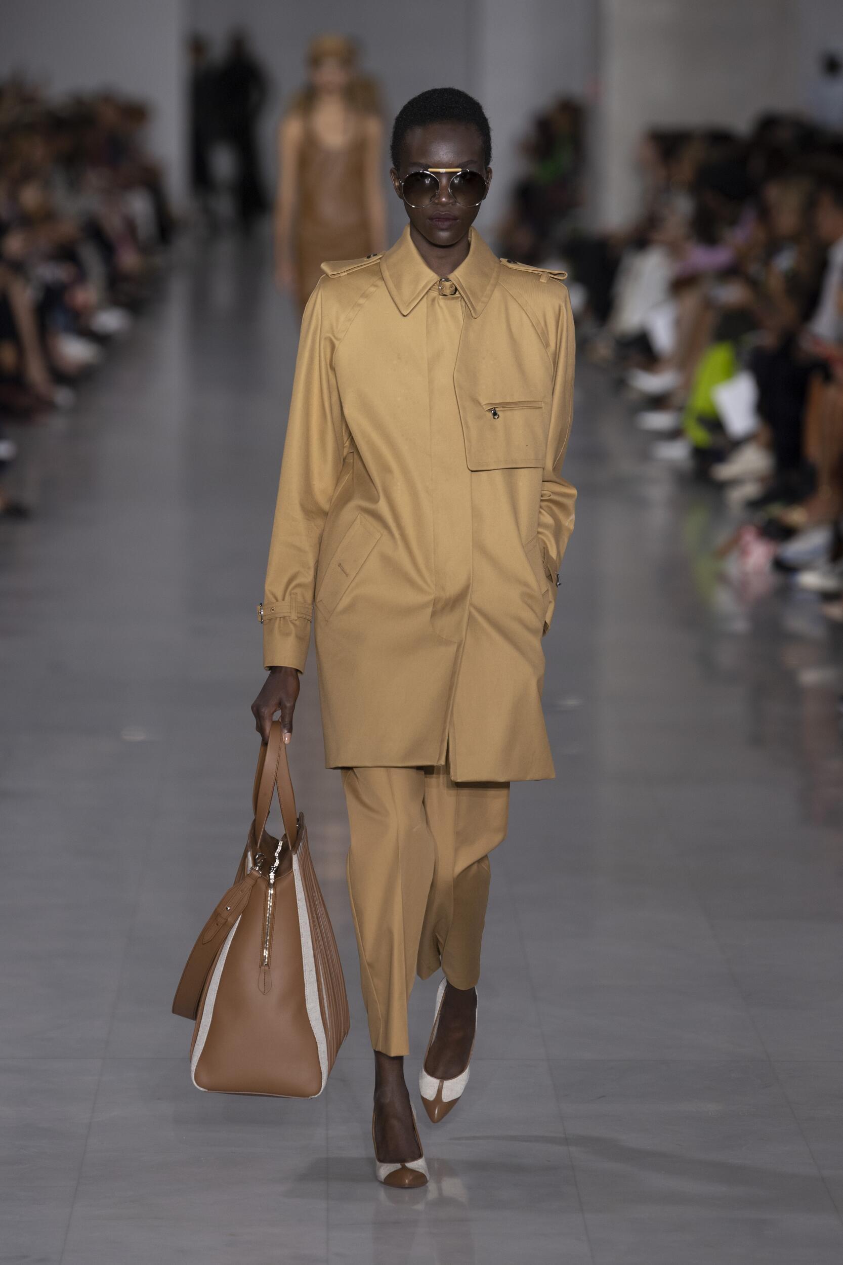 Fashion Model Woman Max Mara Catwalk