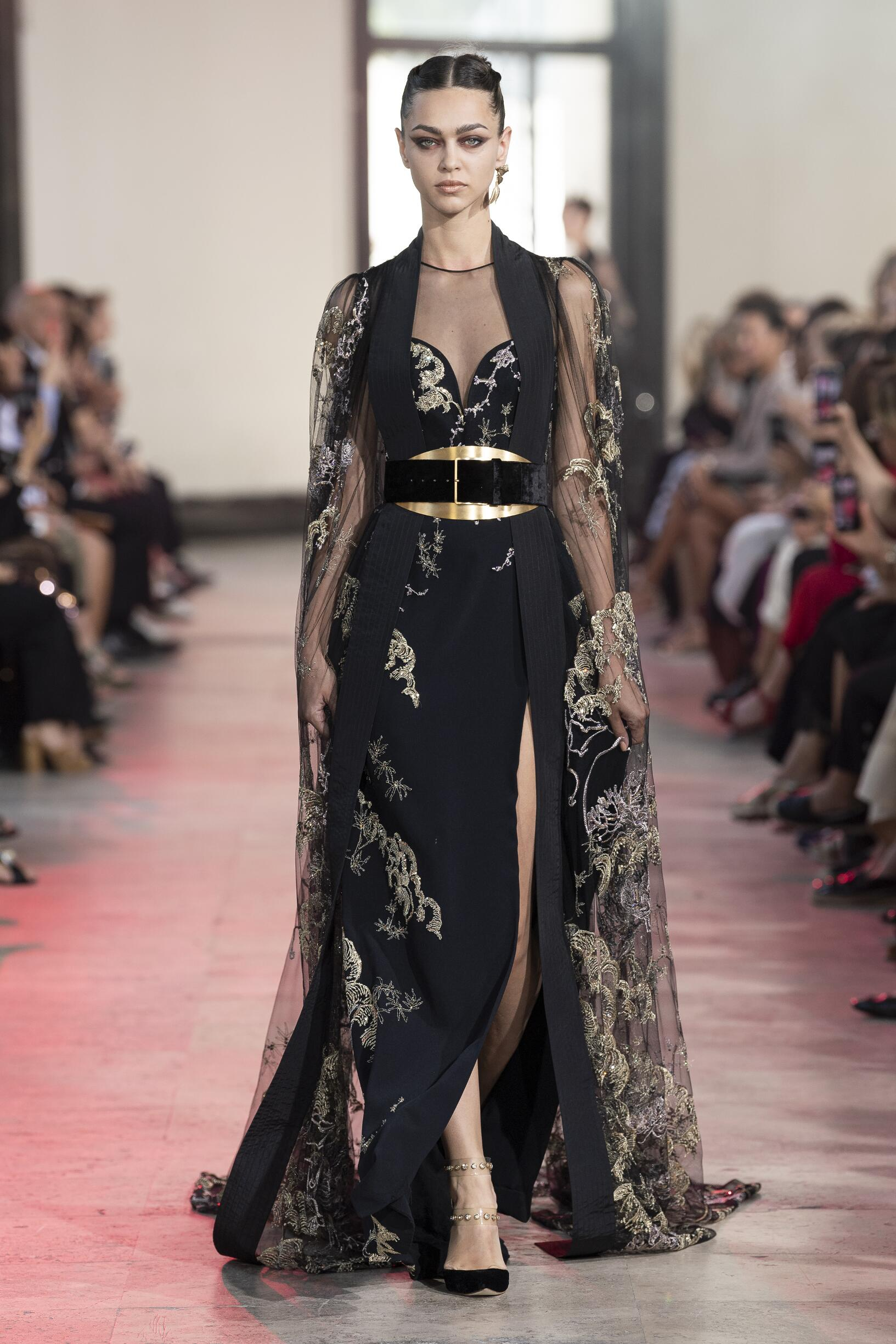 Fashion Show Woman Model Elie Saab Haute Couture Catwalk