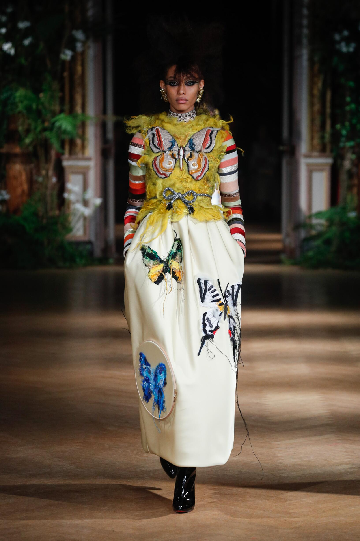 Fashion Show Woman Model Viktor & Rolf Haute Couture Catwalk