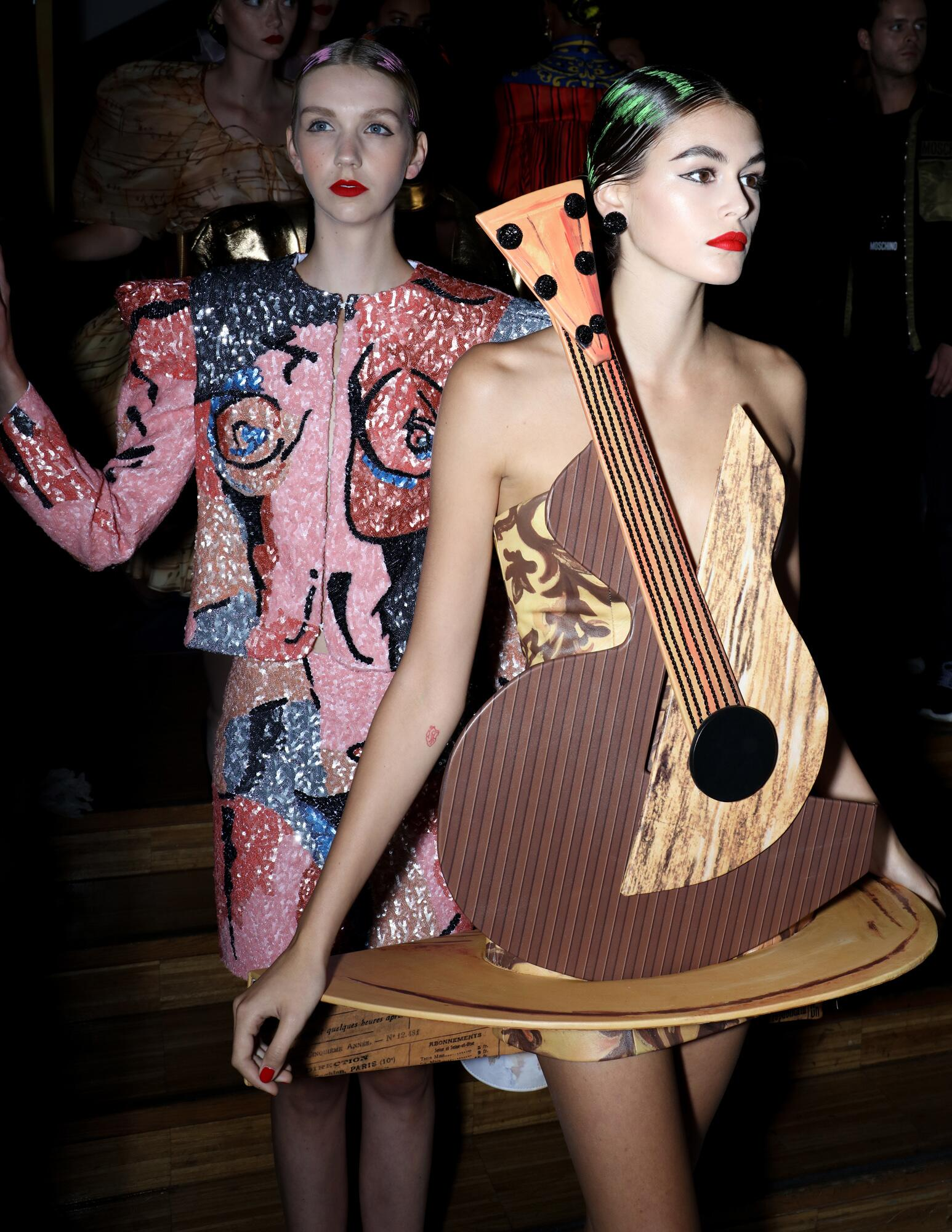 Models Summer Backstage Moschino