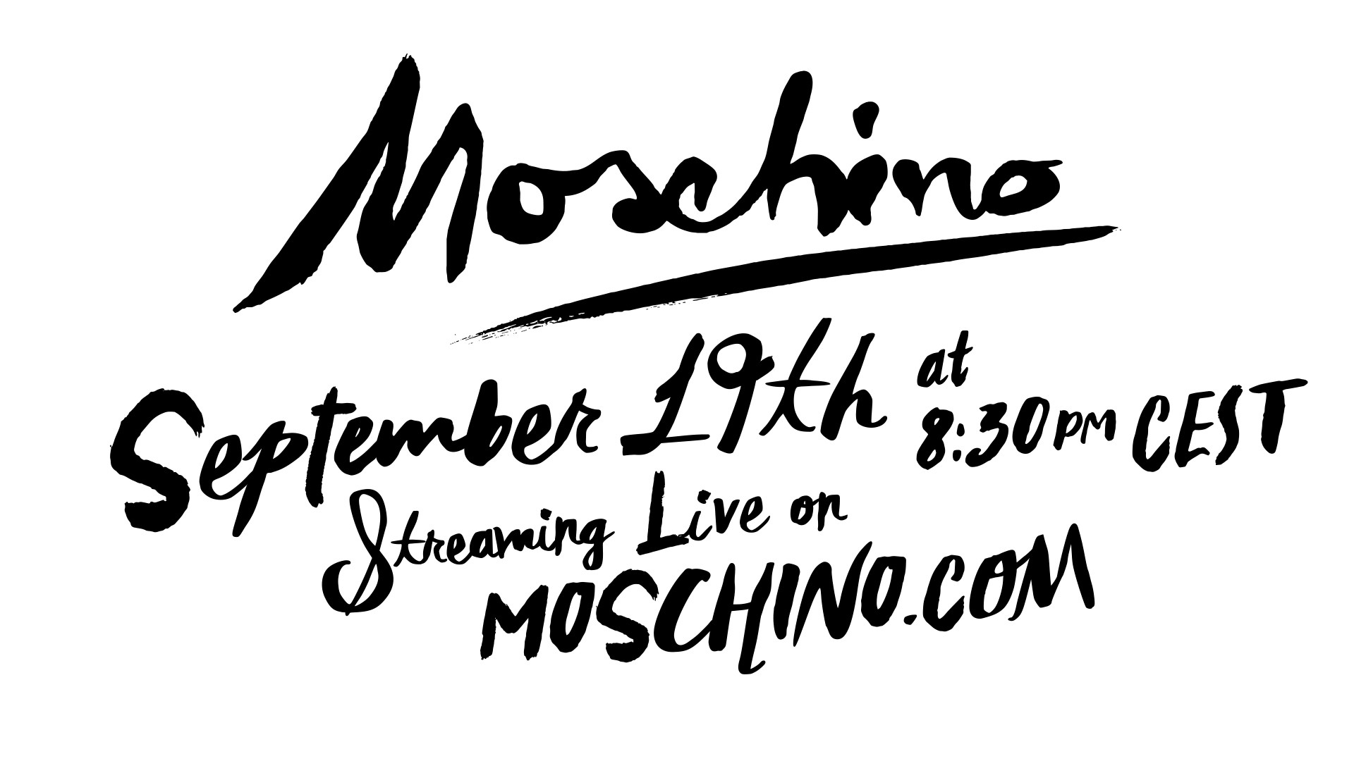 Moschino Spring Summer 2020 Fashion Show Live Streaming Milan