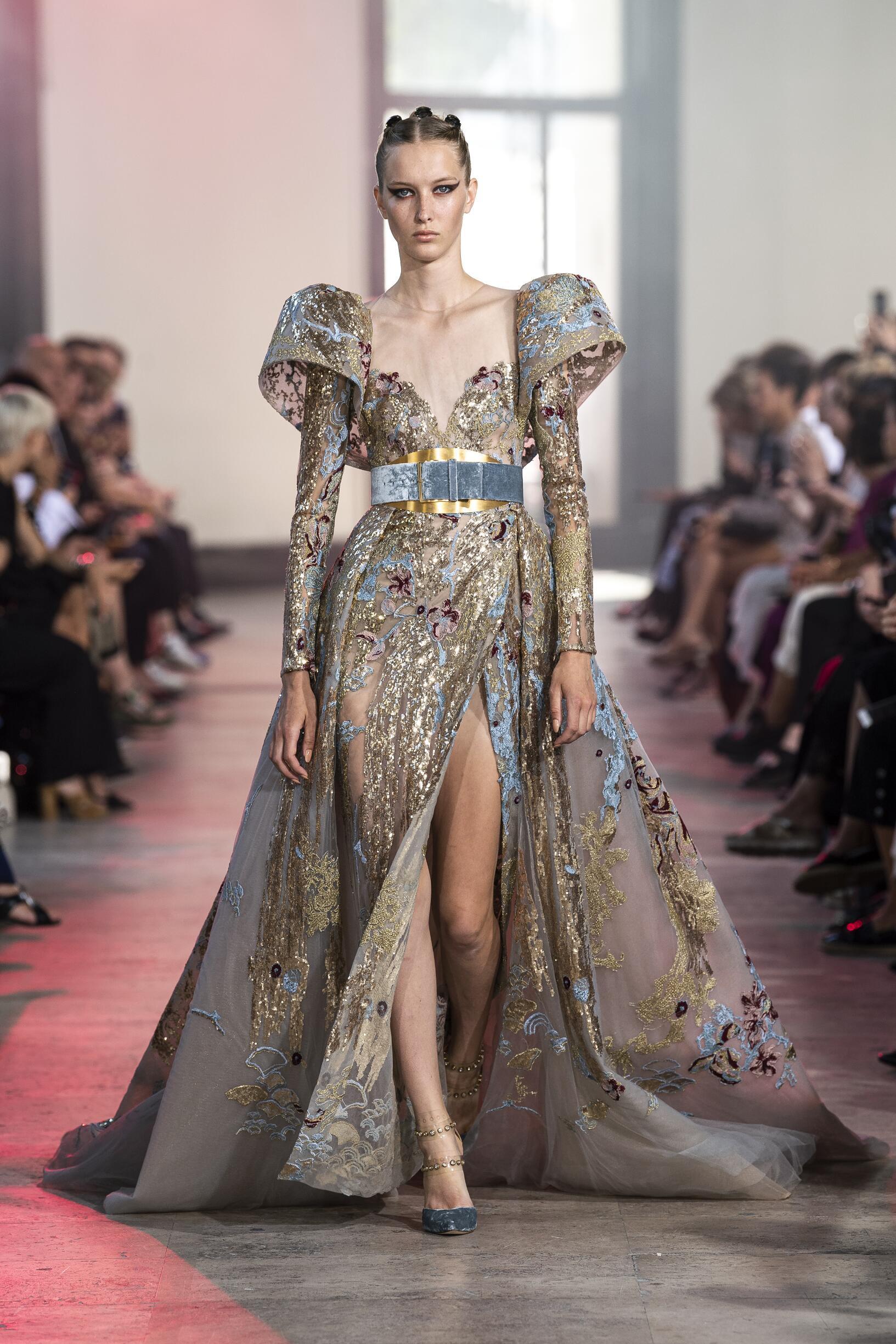 Woman FW 2019 Elie Saab Haute Couture Show Paris Fashion Week