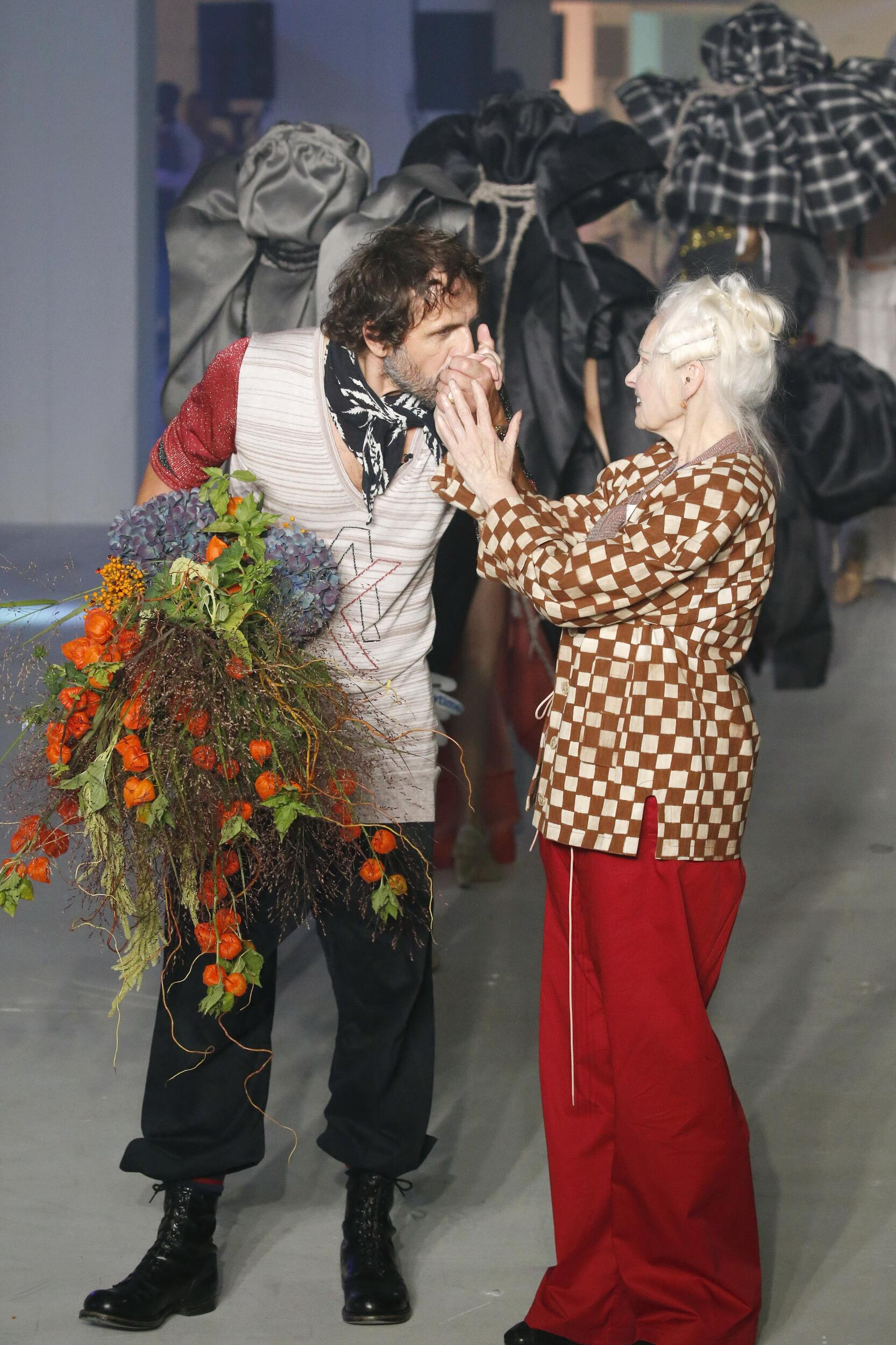 Andreas Kronthaler and Vivienne Westwood Fashion Show Finale