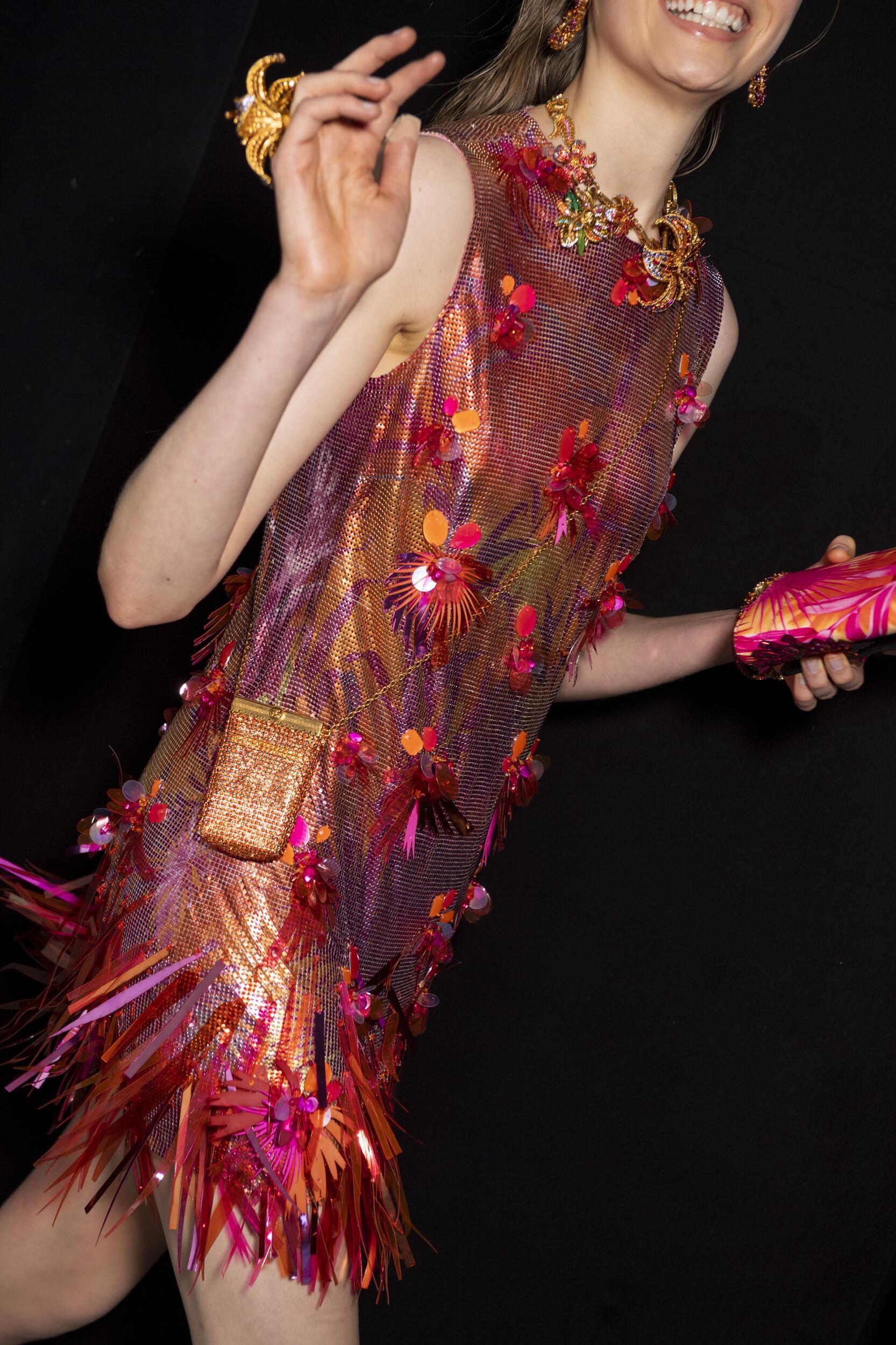 Backstage Versace Milan Fashion Week Dress
