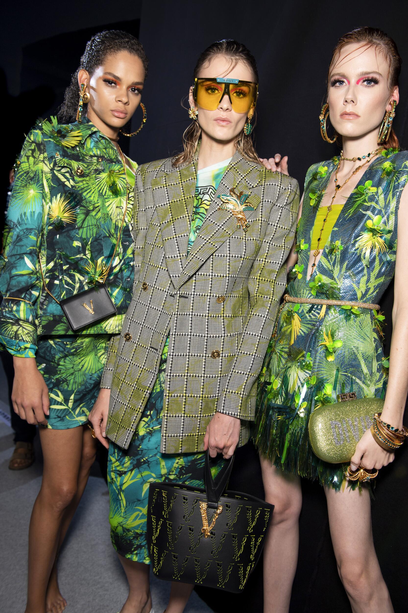 Backstage Versace Models Spring 2020 Collection Milan Fashion Week