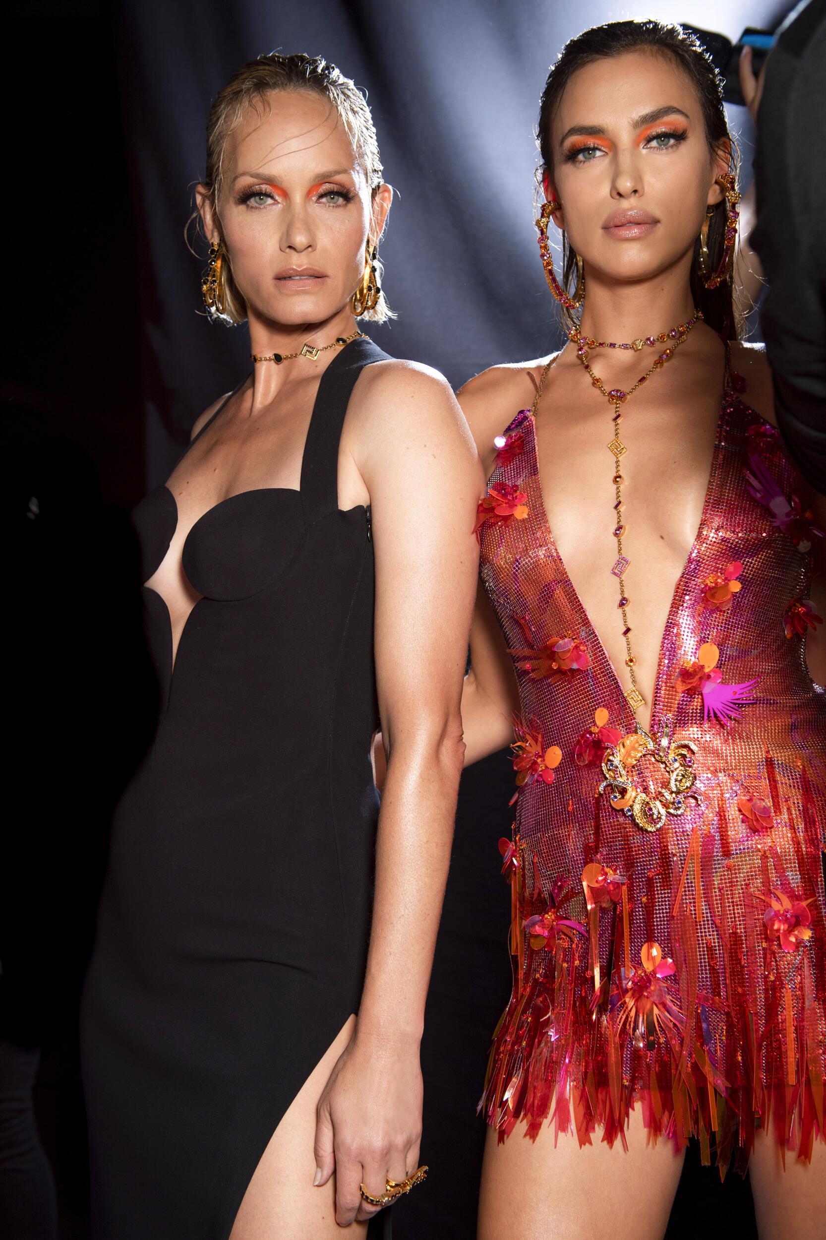Backstage Versace Models Womenswear