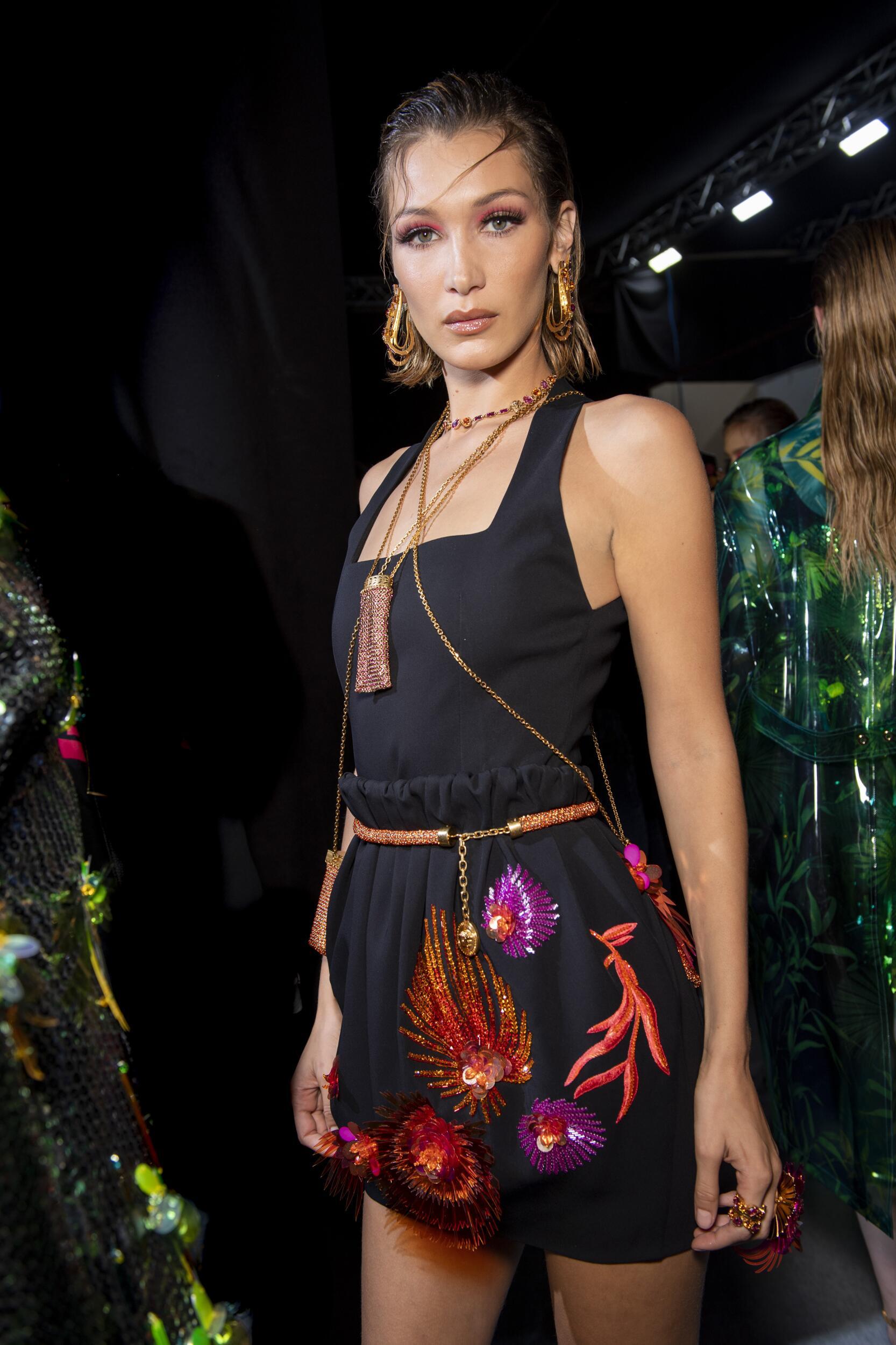 Bella Hadid 2020 Backstage Versace