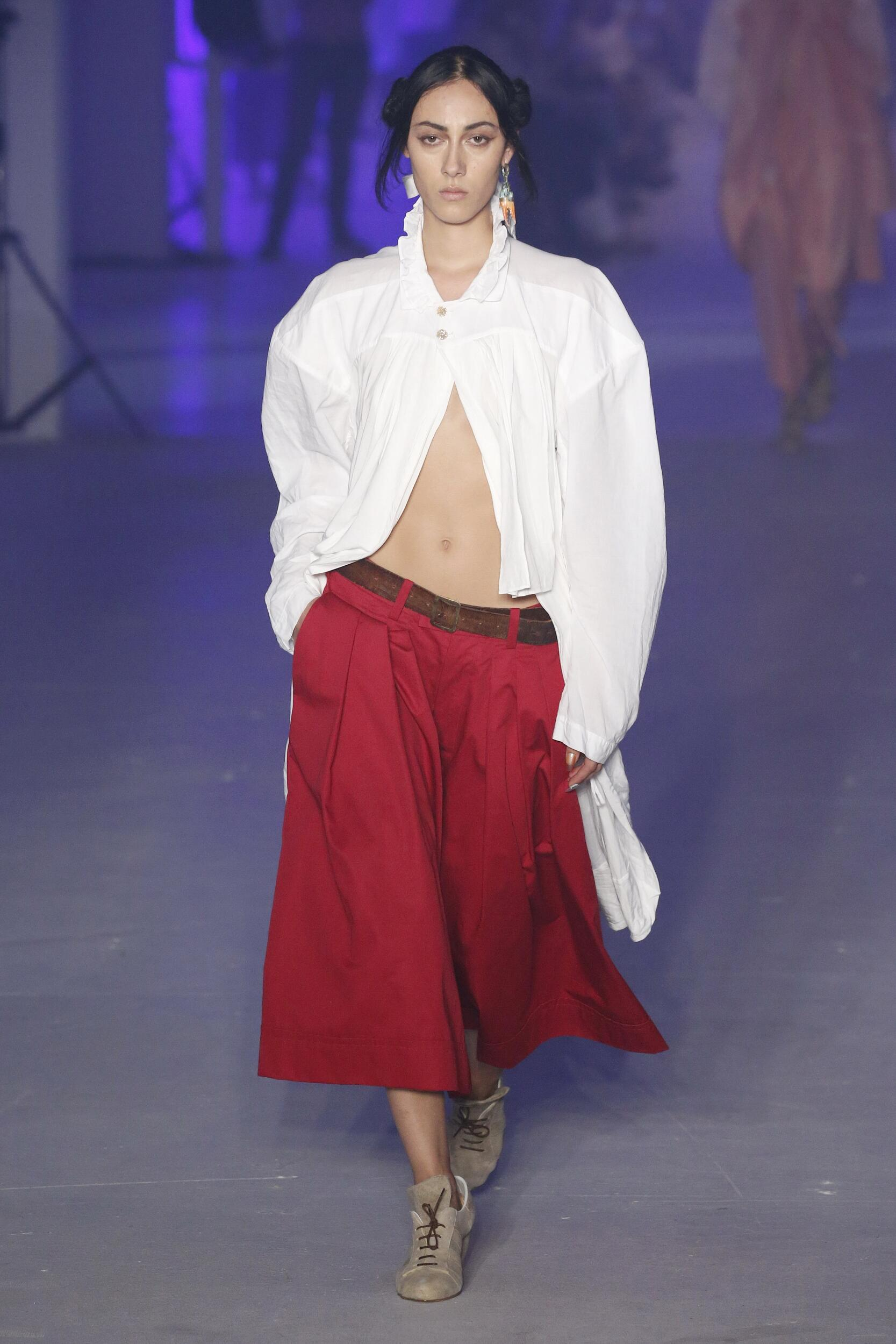 Catwalk Andreas Kronthaler for Vivienne Westwood Woman Fashion Show Summer 2020