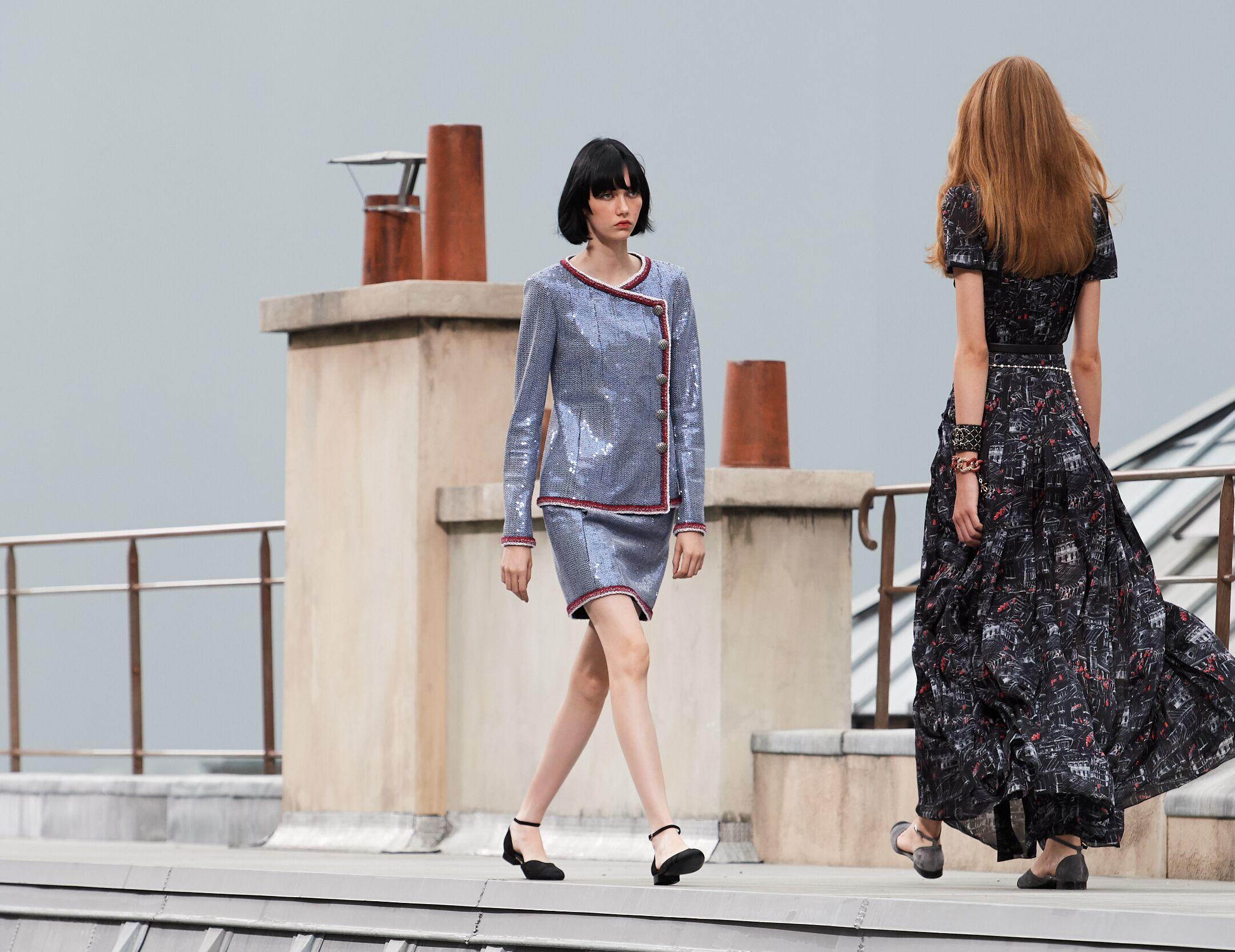 Catwalk Chanel Woman Fashion Show Summer 2020