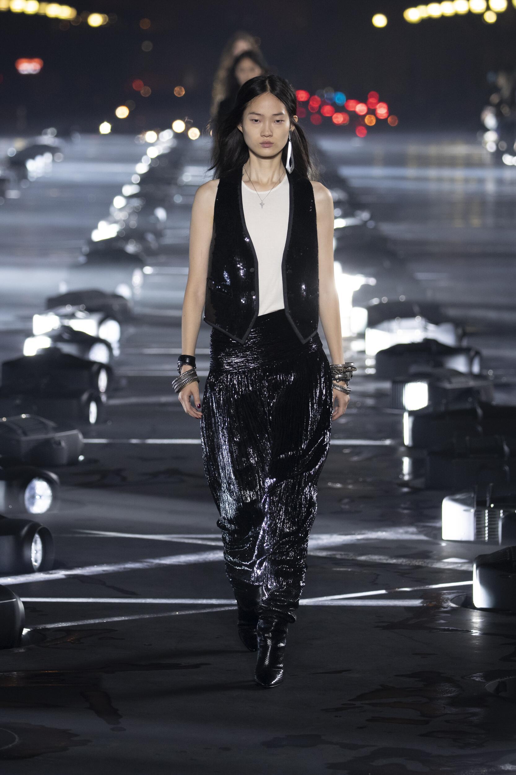 Catwalk Saint Laurent Woman Fashion Show Summer 2020
