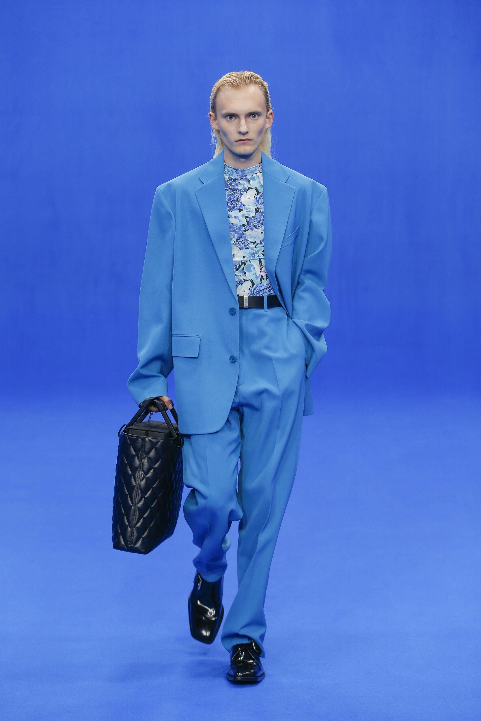 Fashion Model Man Balenciaga Catwalk
