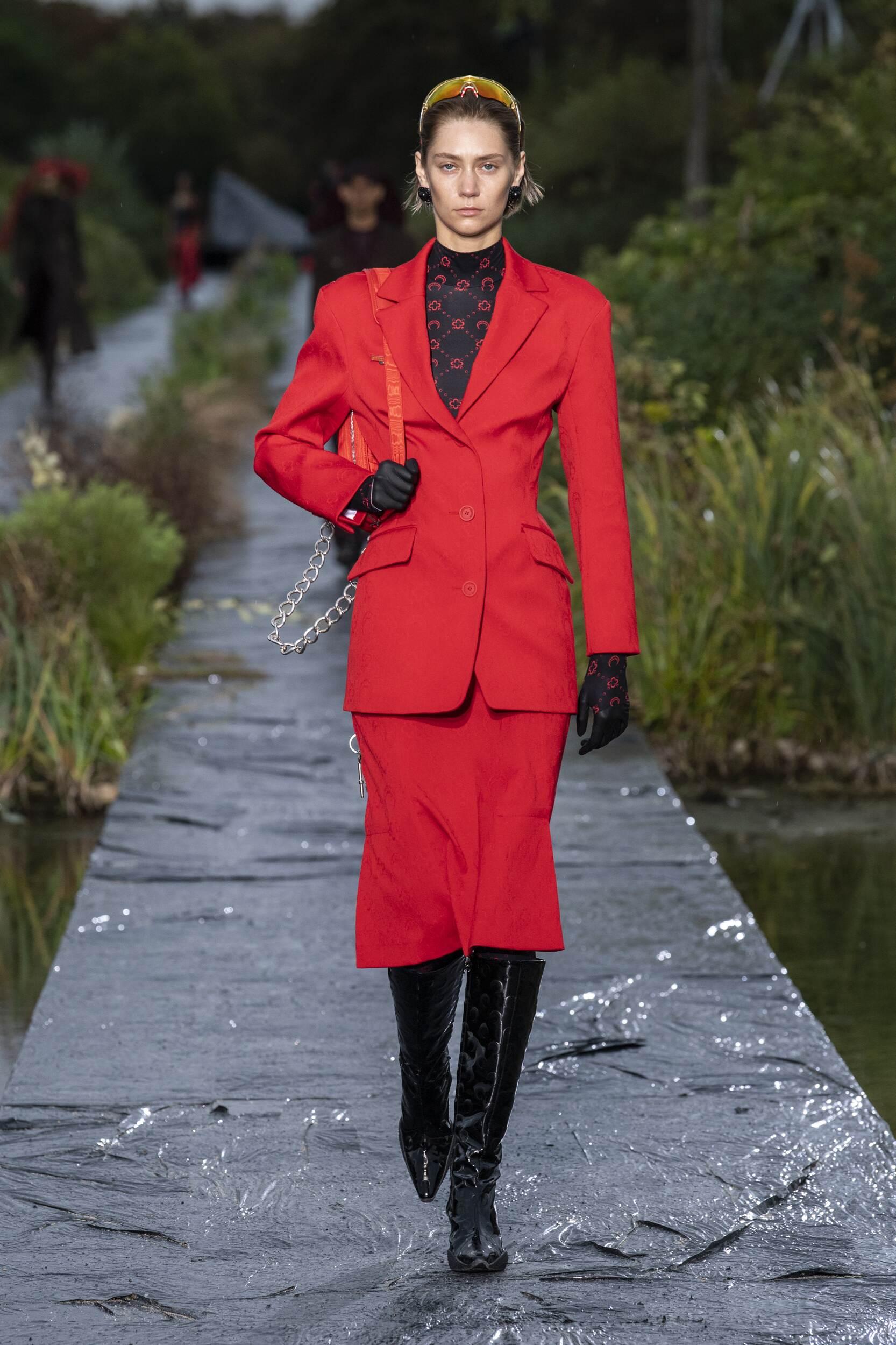 Fashion Model Marine Serre Catwalk