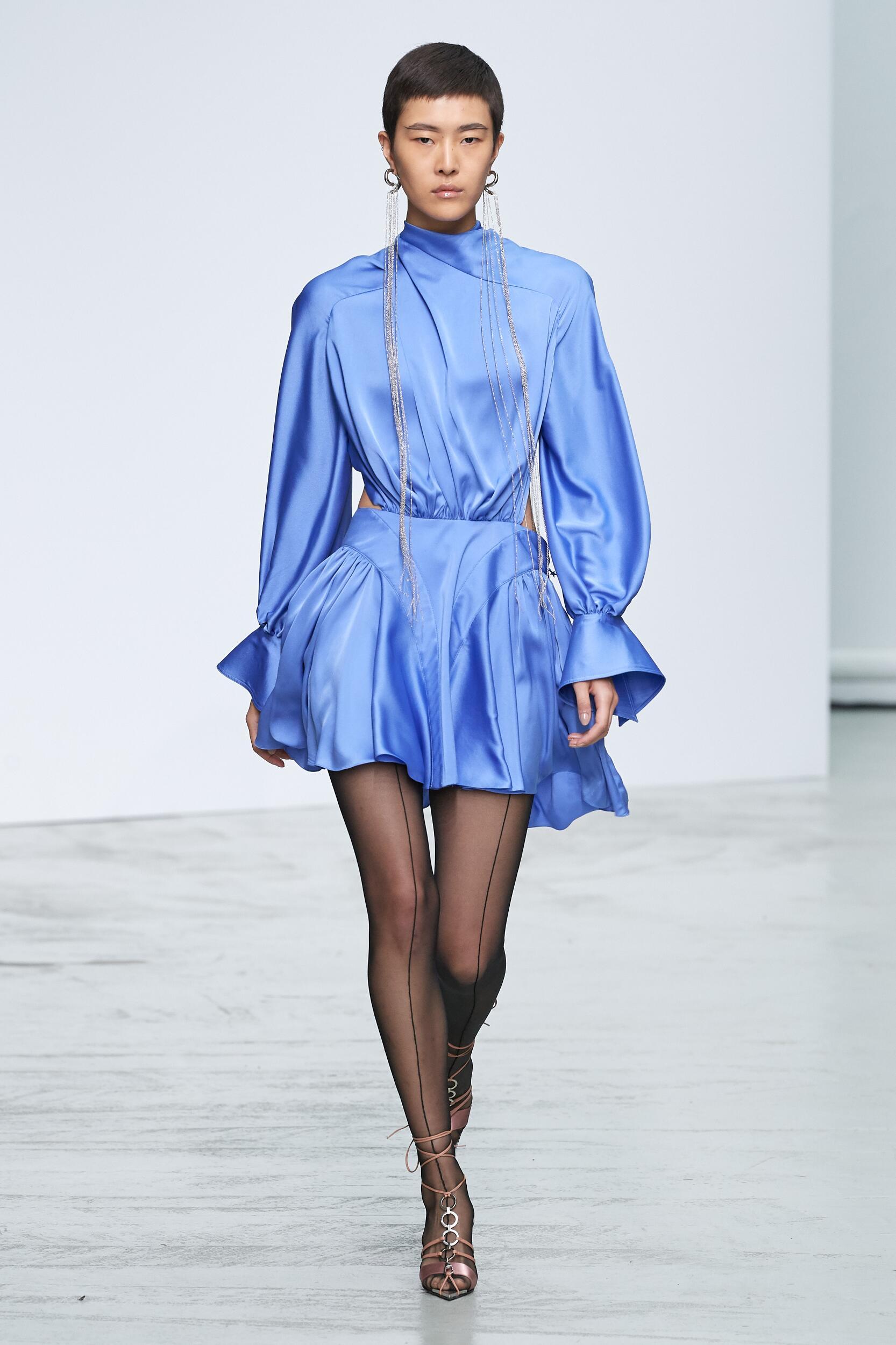 Fashion Model Mugler Catwalk