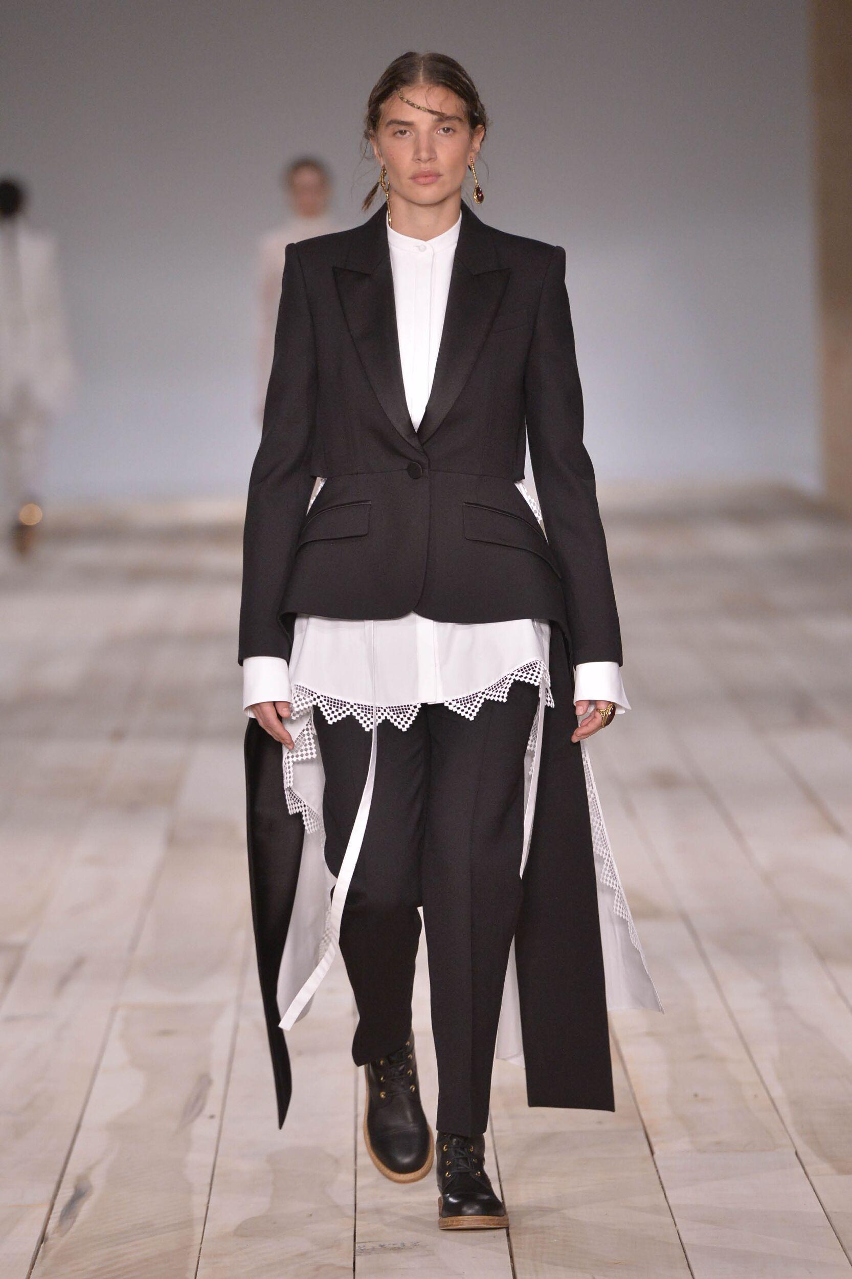 Fashion Model Woman Alexander McQueen Catwalk