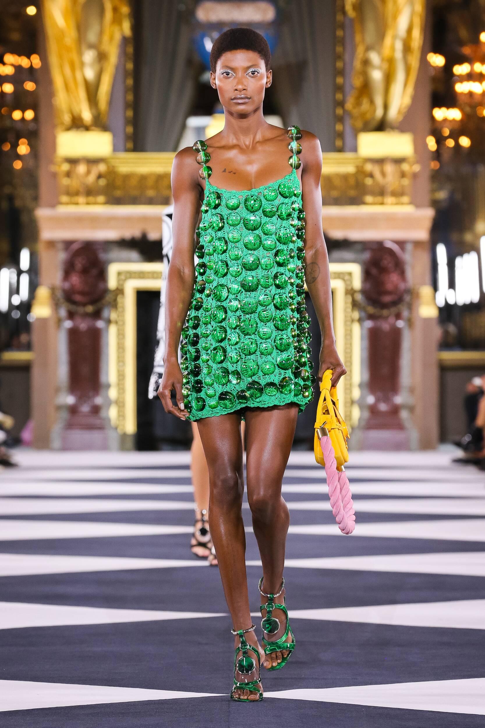 Fashion Model Woman Balmain Catwalk