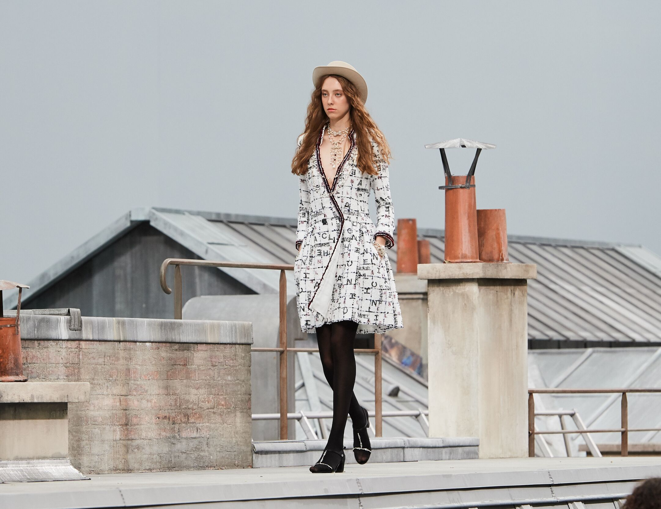 Fashion Model Woman Chanel Catwalk