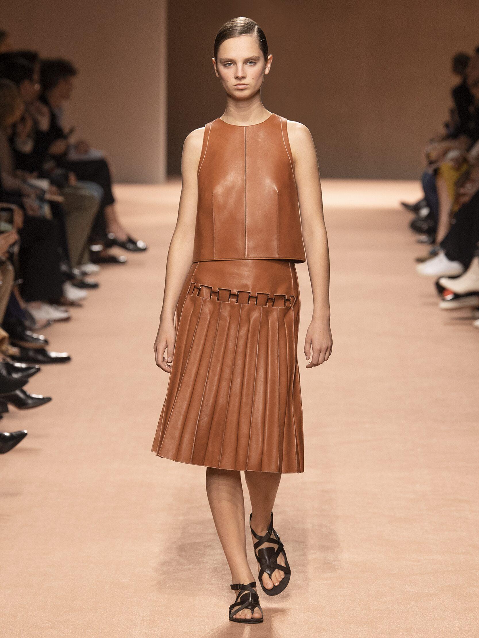 Fashion Model Woman Hermès Catwalk