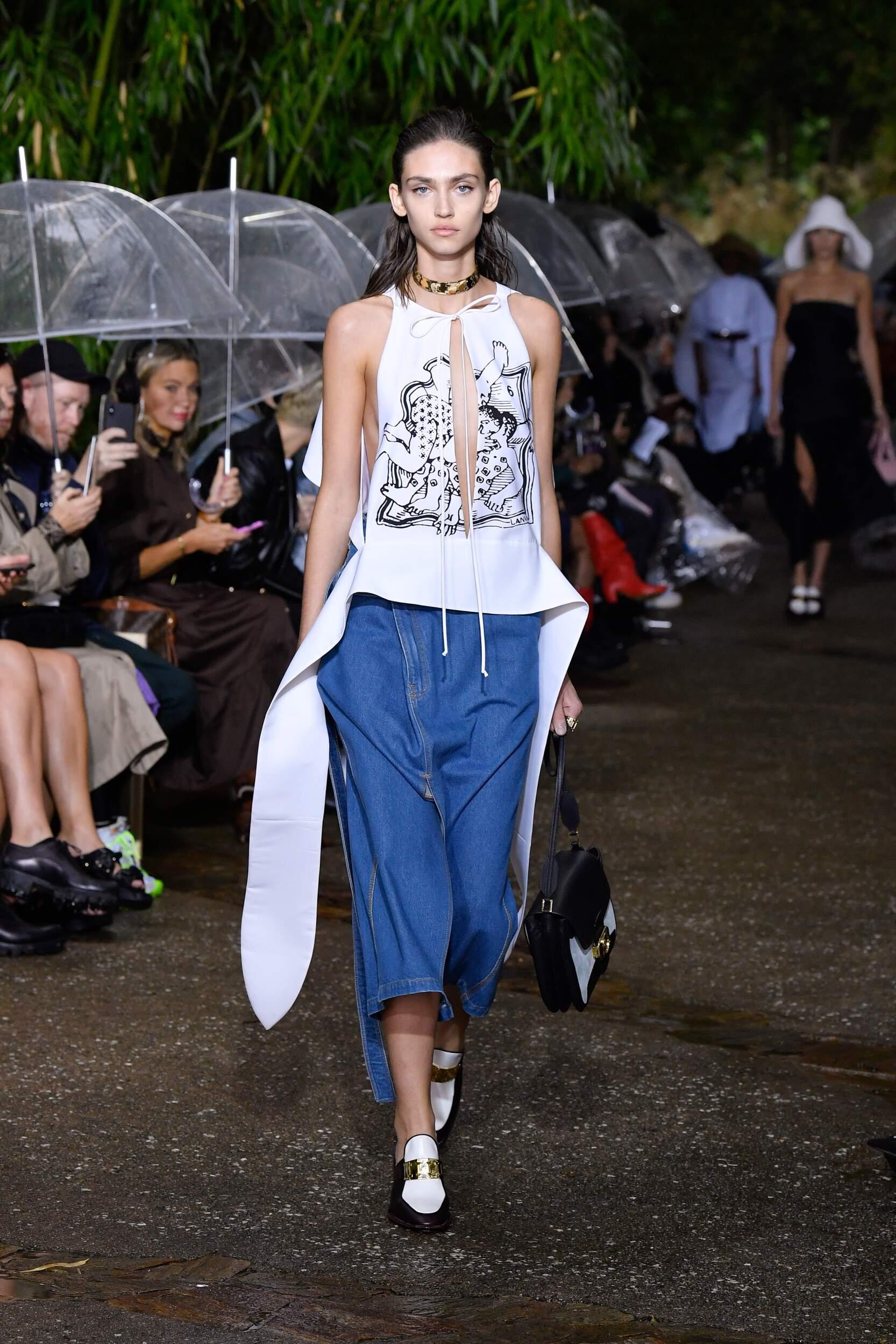 Fashion Model Woman Lanvin Catwalk