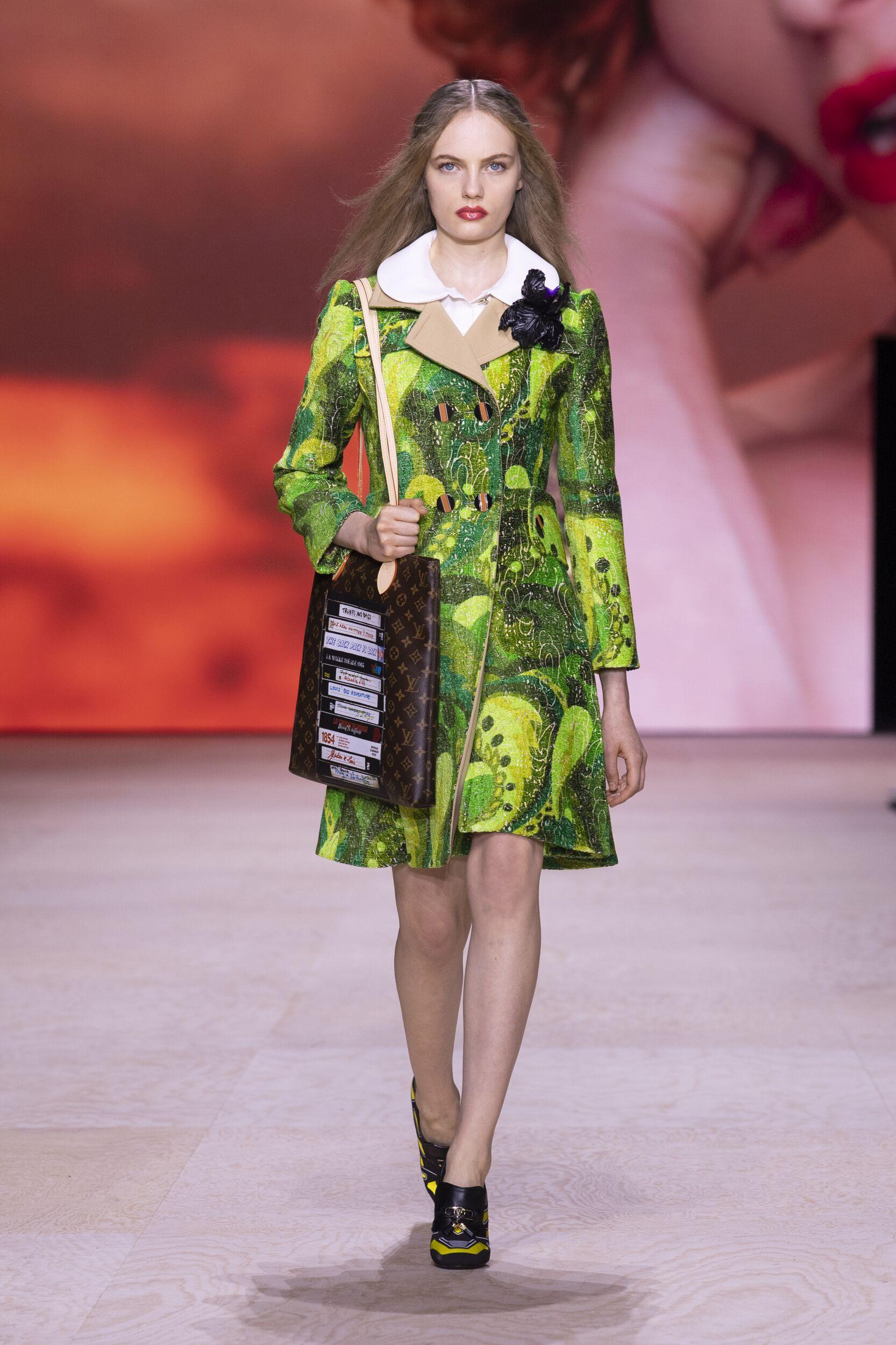 Fashion Model Woman Louis Vuitton Catwalk