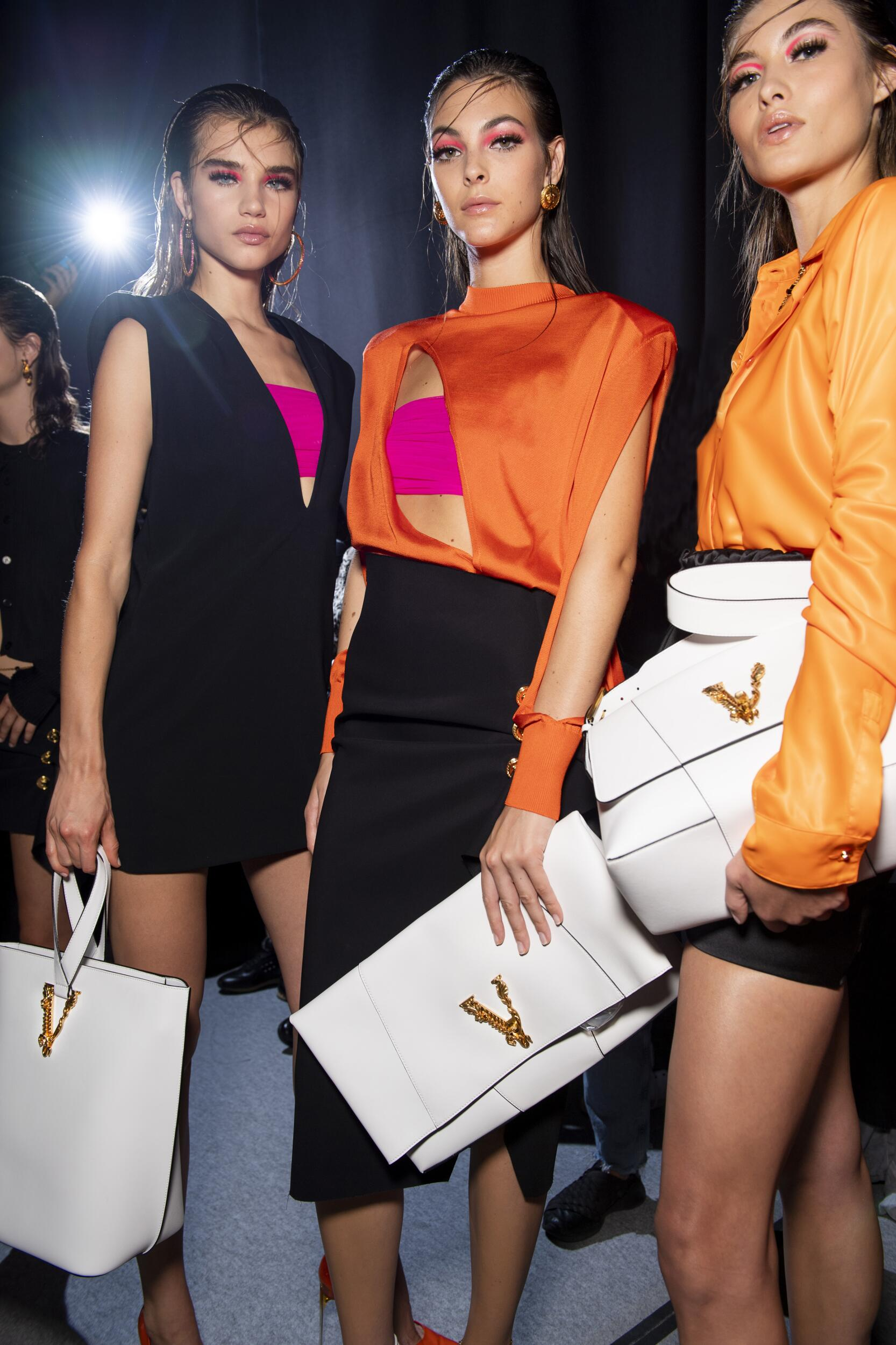 Models Backstage Versace Spring Summer 2020 Collection