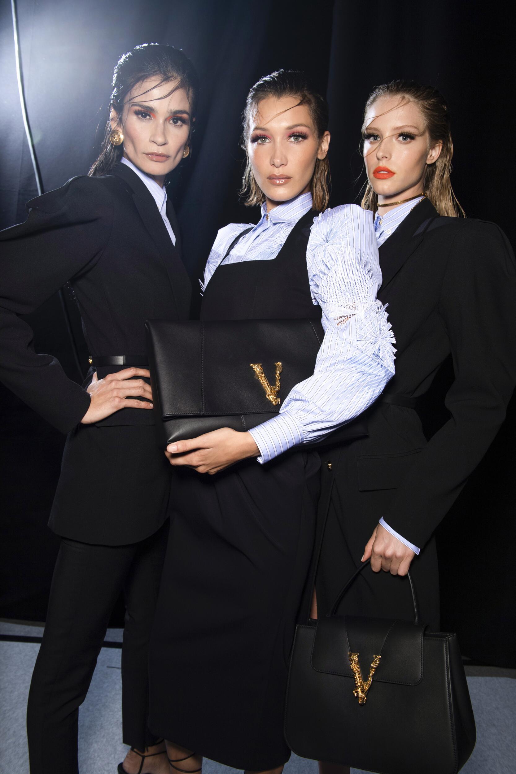 Models Summer Backstage Versace